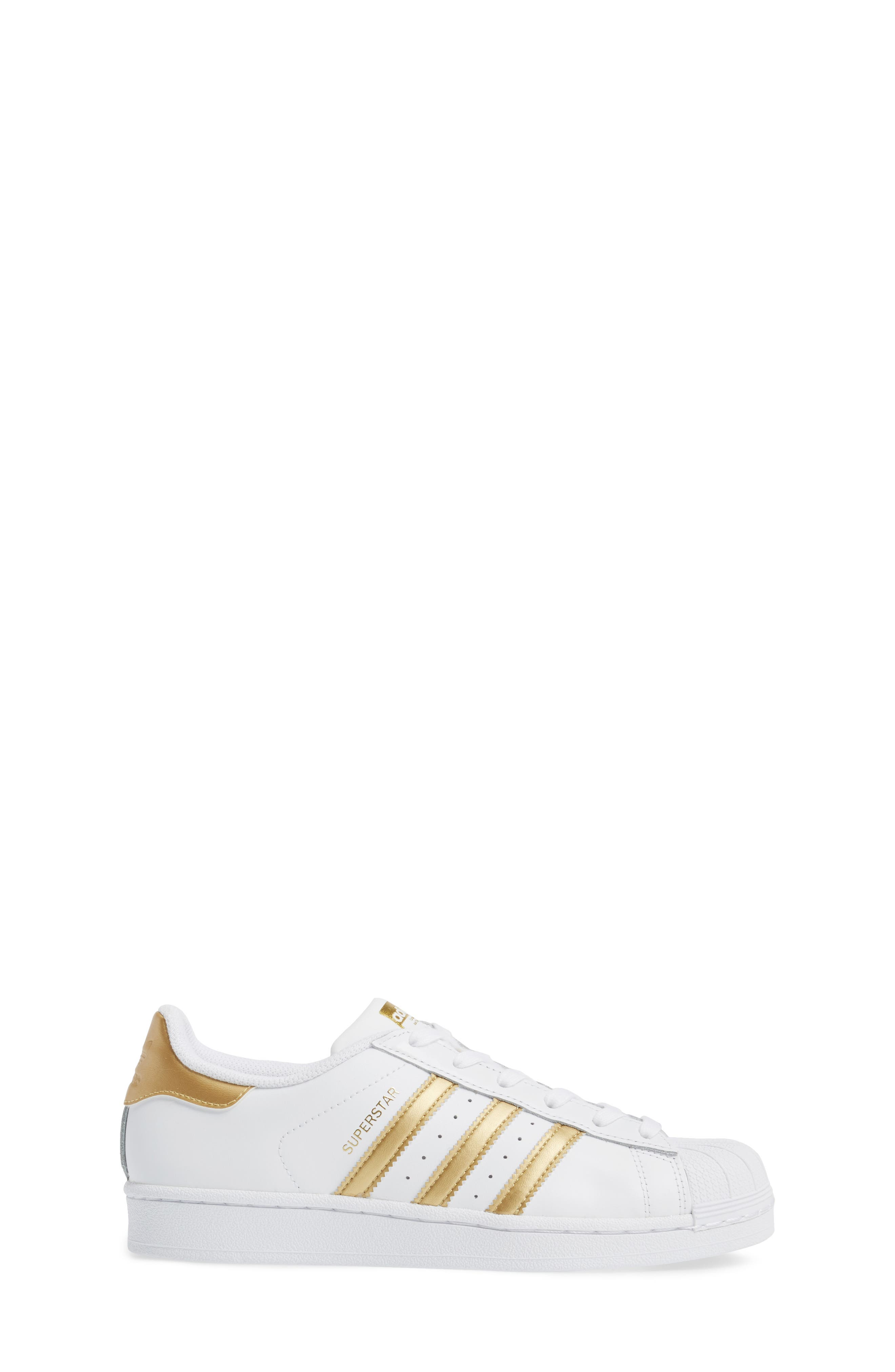 Alternate Image 3  - adidas Superstar J Sneaker (Big Kid)
