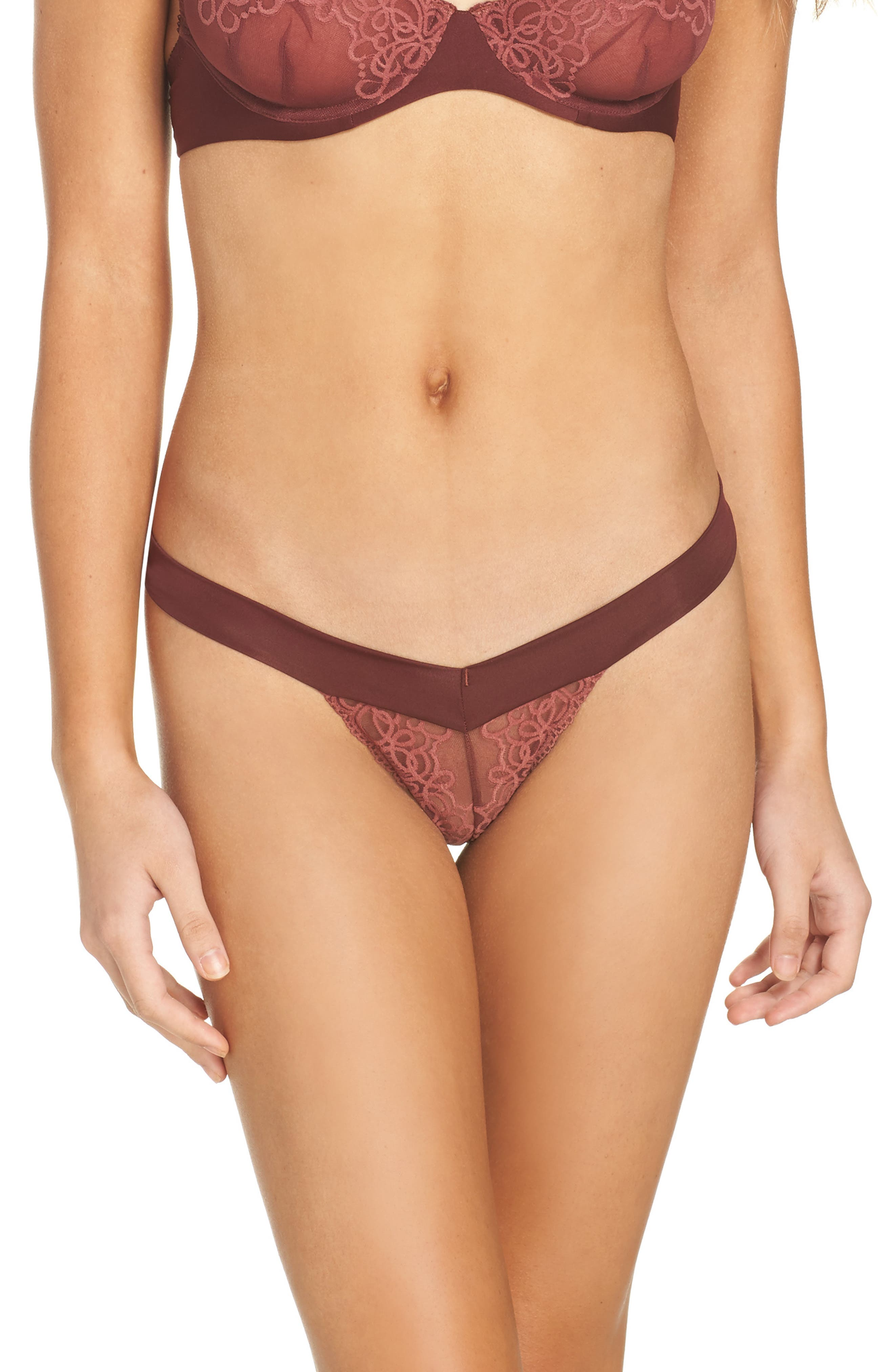 Intimately FP 'Wishing Well' Thong,                         Main,                         color, Burnt Sienna
