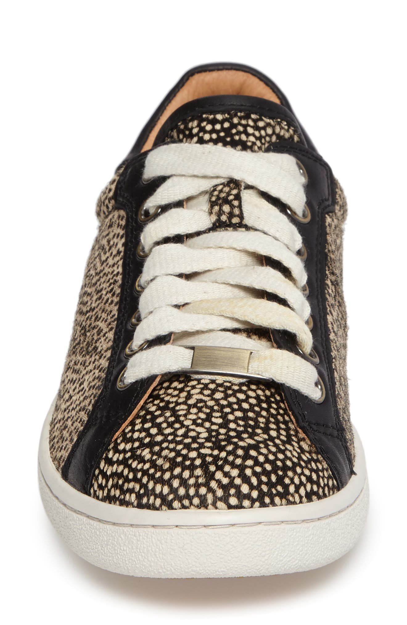 Alternate Image 4  - UGG® Milo Genuine Calf Hair Sneaker (Women)