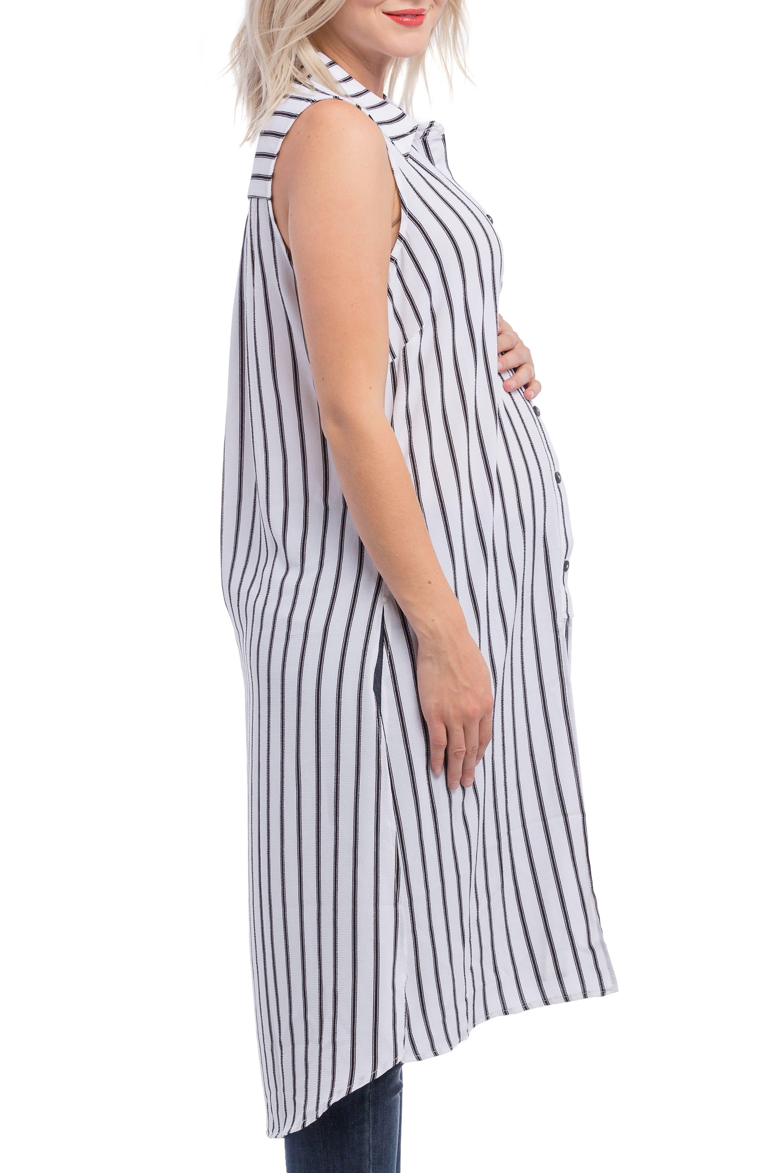 Alternate Image 5  - Lilac Clothing Print Maternity Tunic