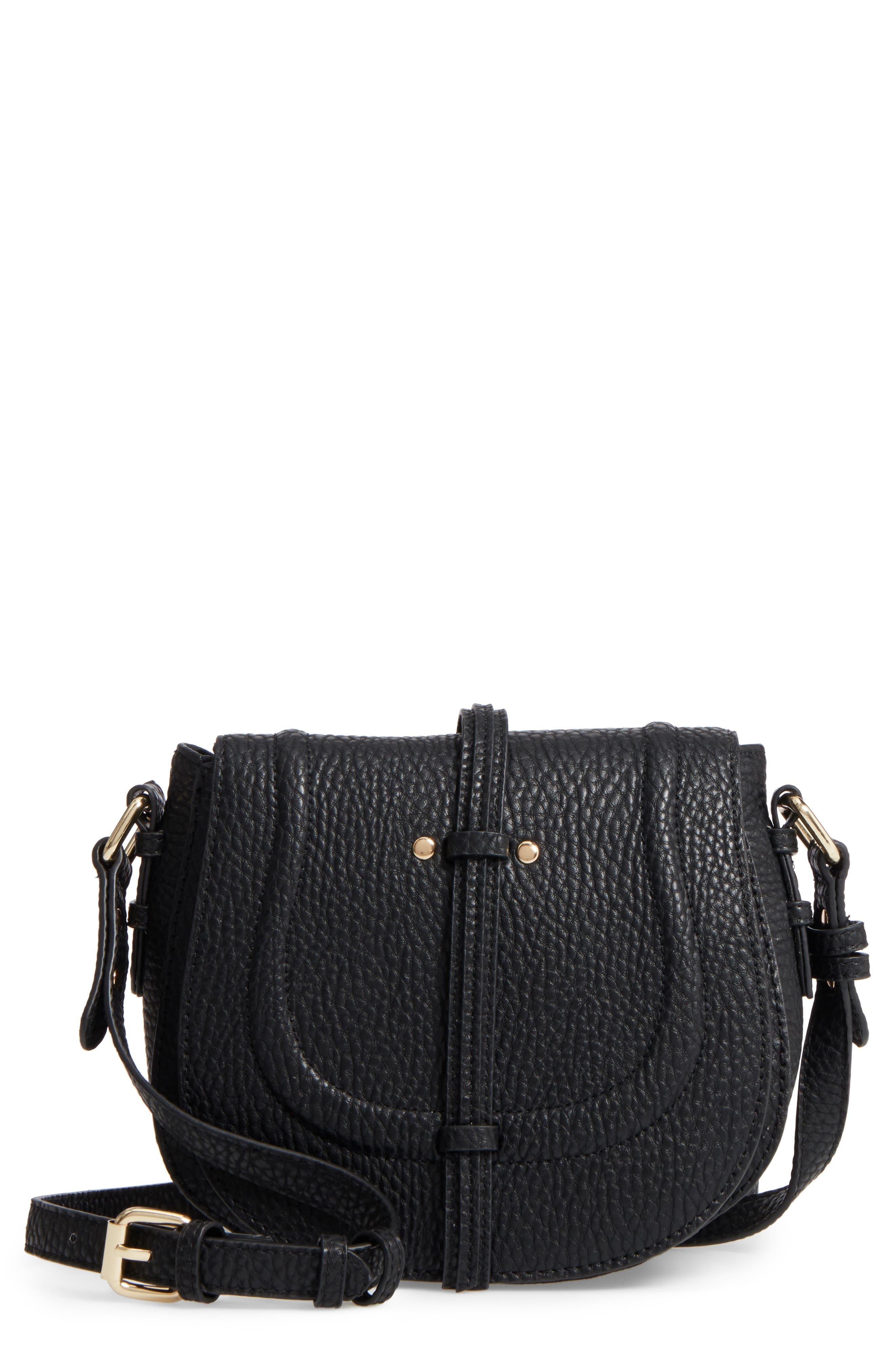 Linea Pelle Classic Faux Leather Saddle Bag