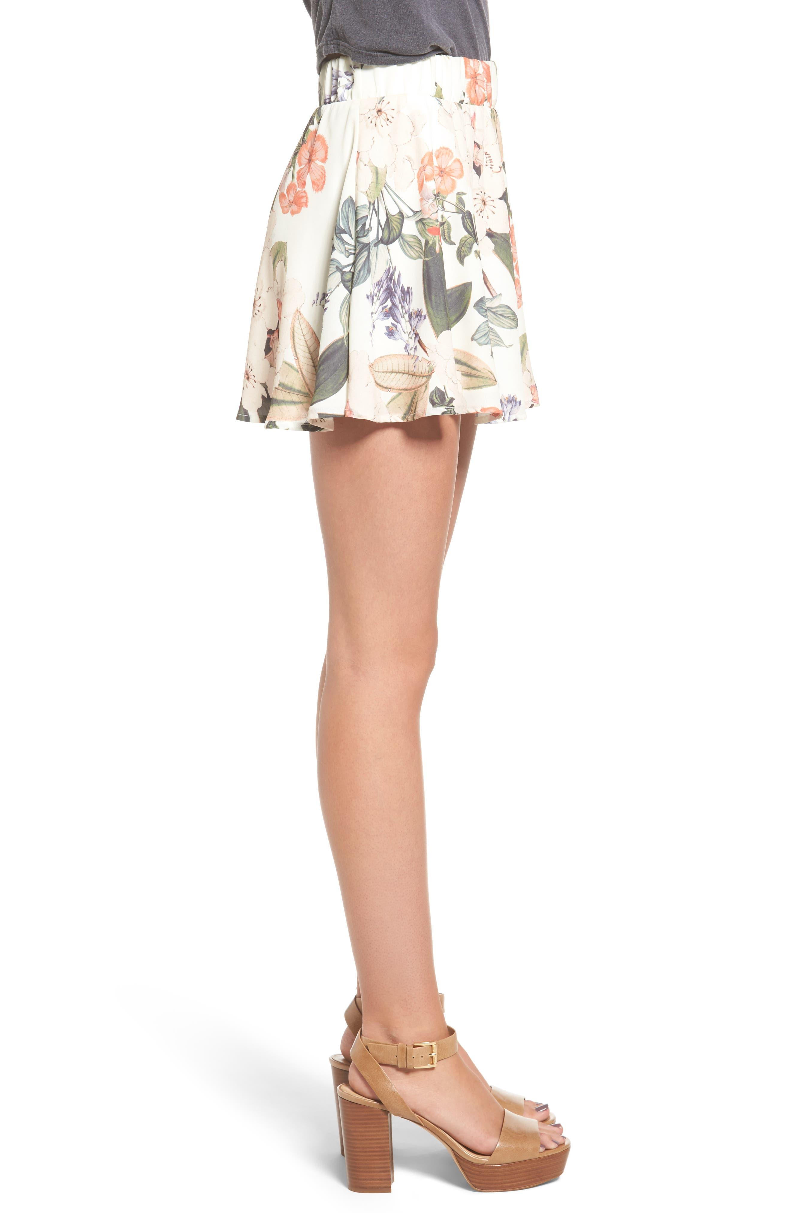 Carlita Miniskirt,                             Alternate thumbnail 3, color,                             Enchanted Florist