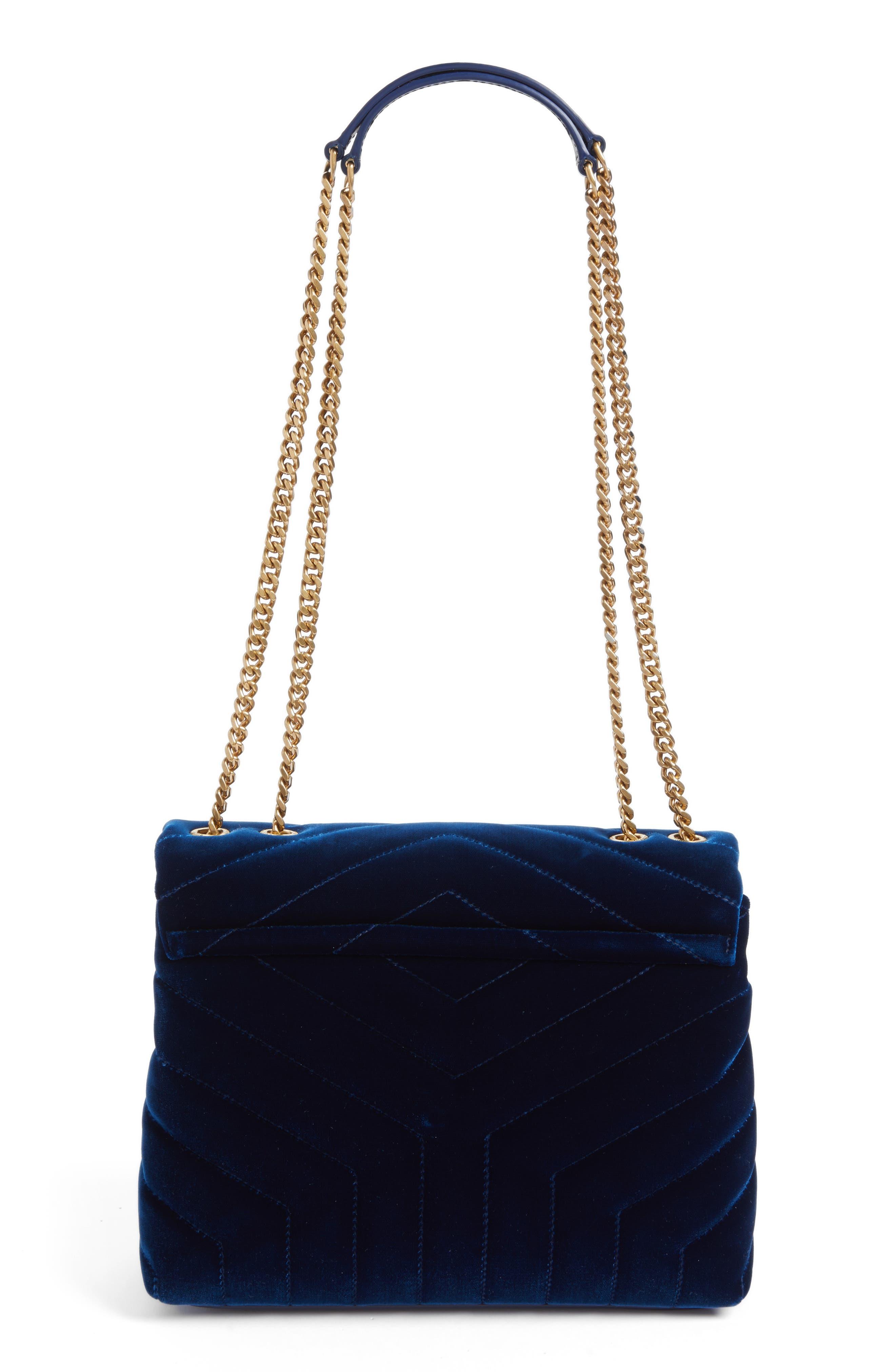 Alternate Image 3  - Saint Laurent Small LouLou Matelassé Velour Shoulder Bag