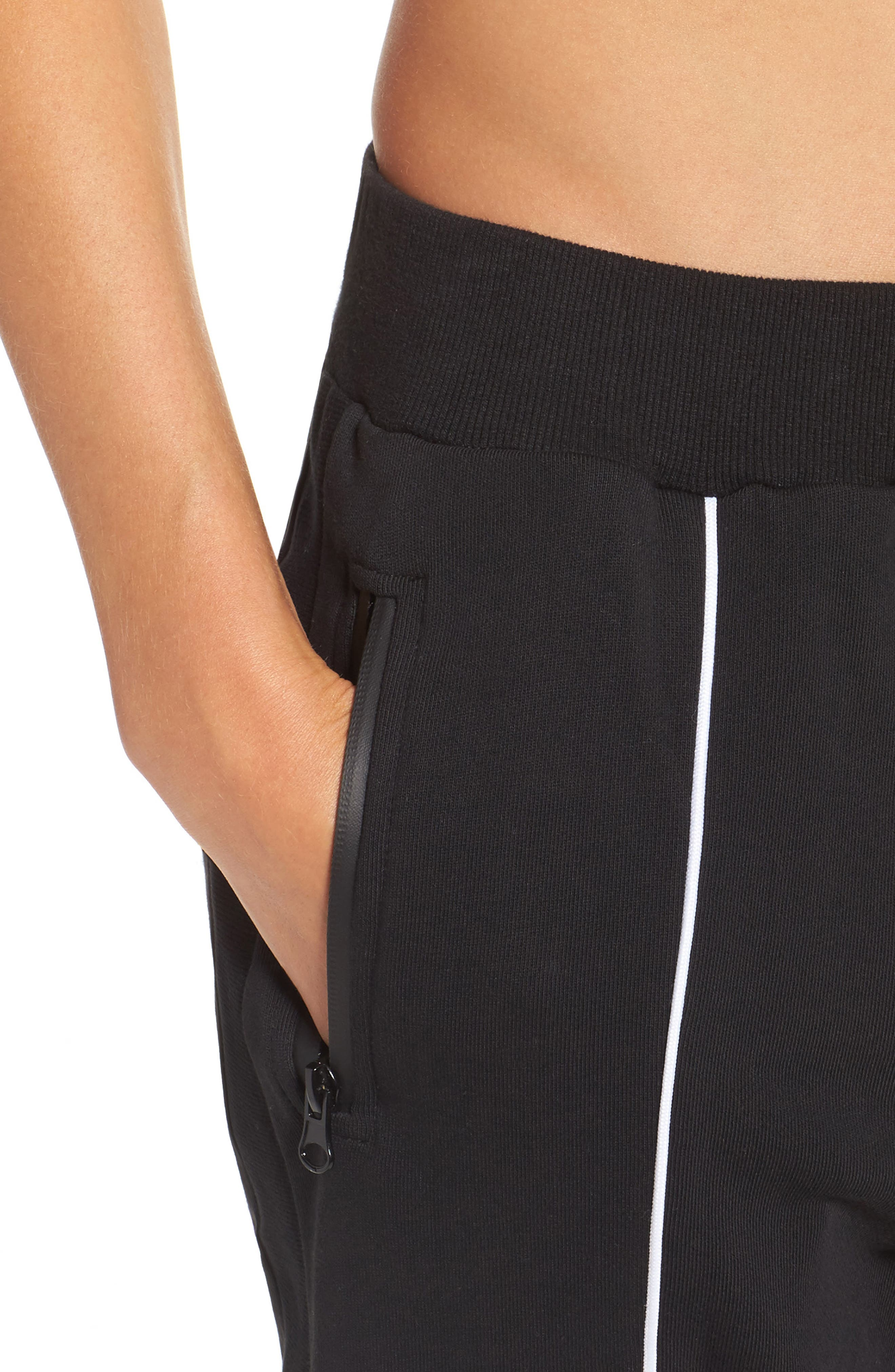 Deuce Track Pants,                             Alternate thumbnail 4, color,                             Black