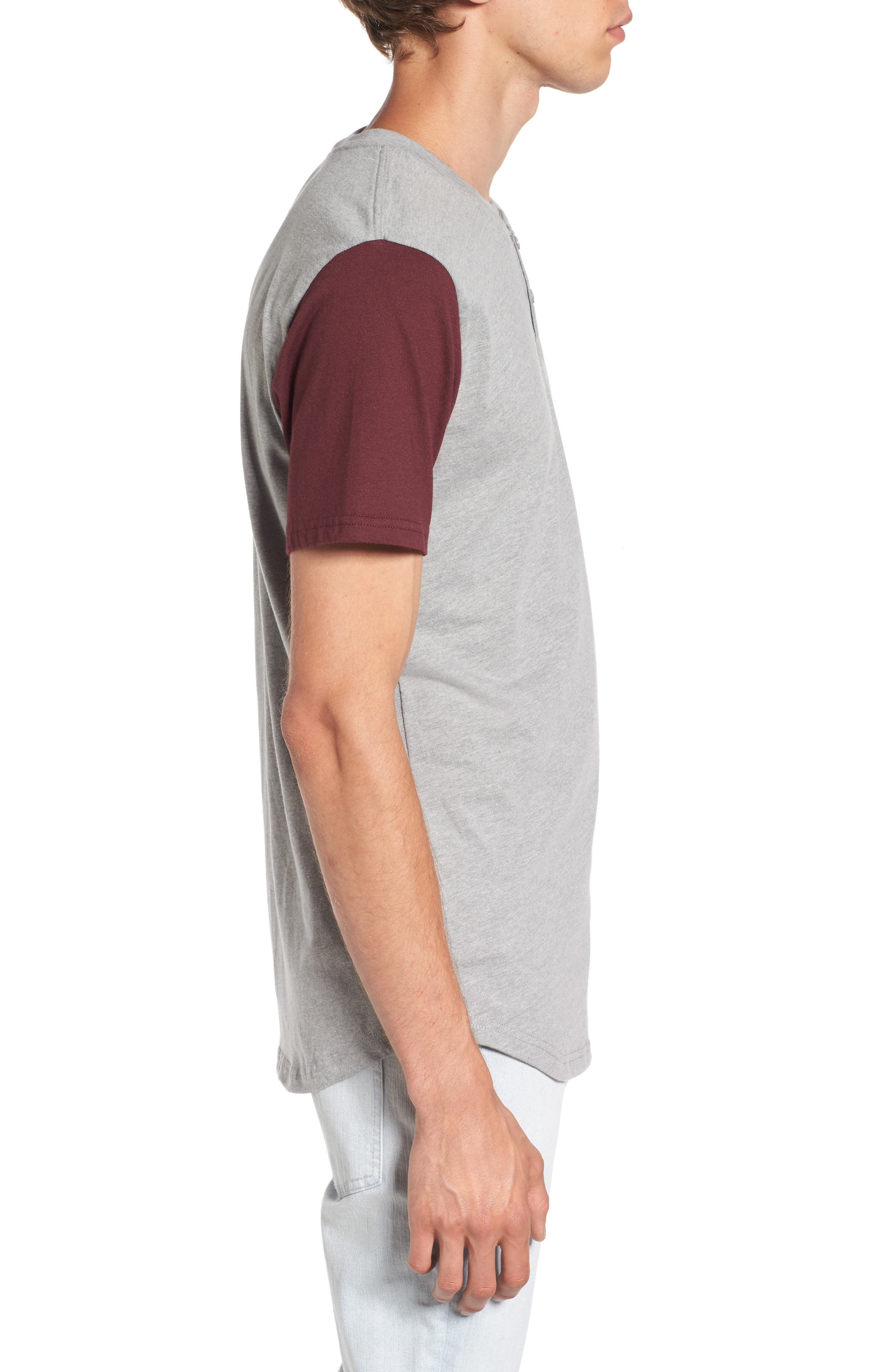 Hitson II Henley T-Shirt,                             Alternate thumbnail 3, color,                             Cement Heather/ Port Royale