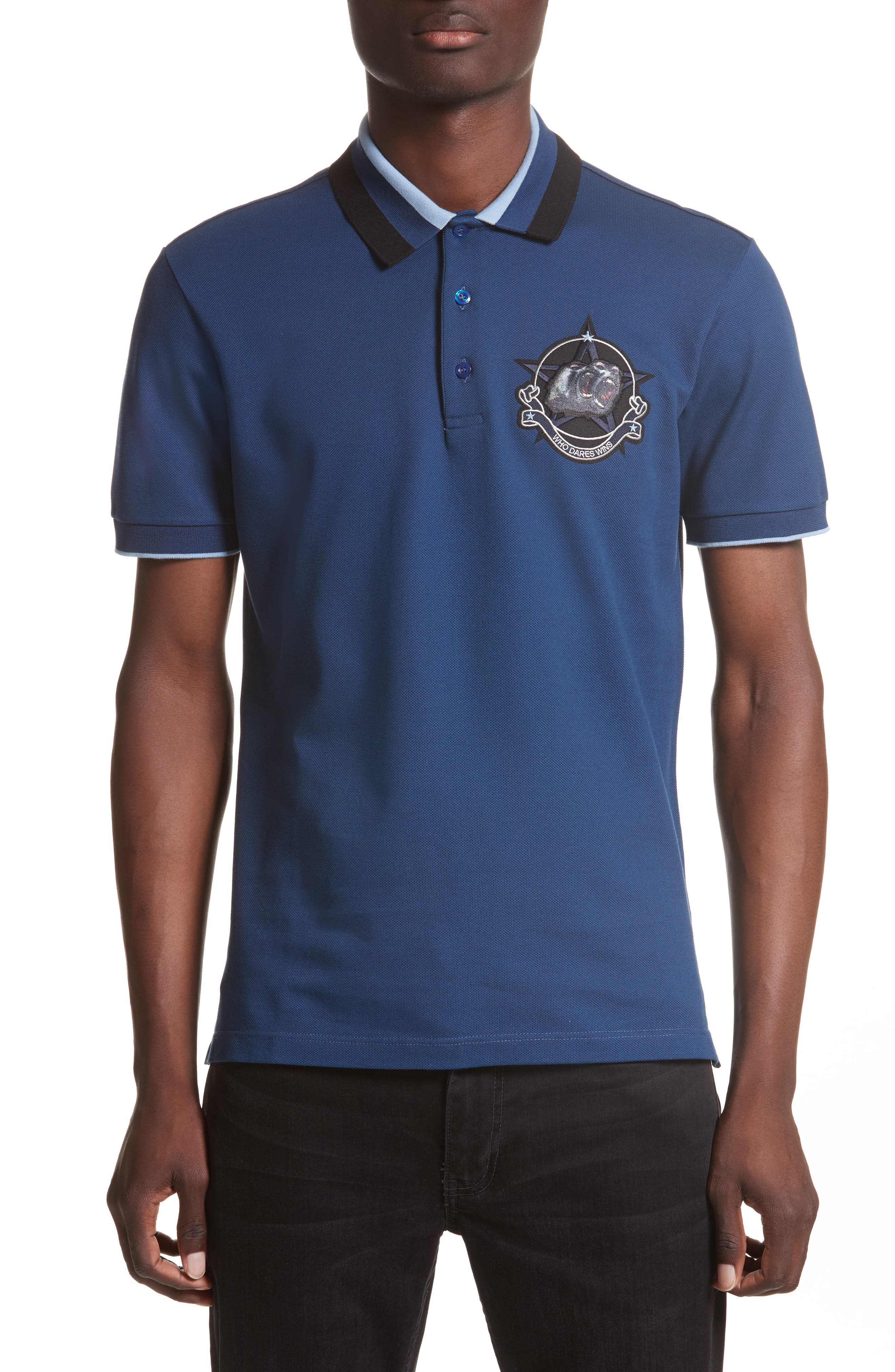 Givenchy Cuban Fit Monkey Patch Polo