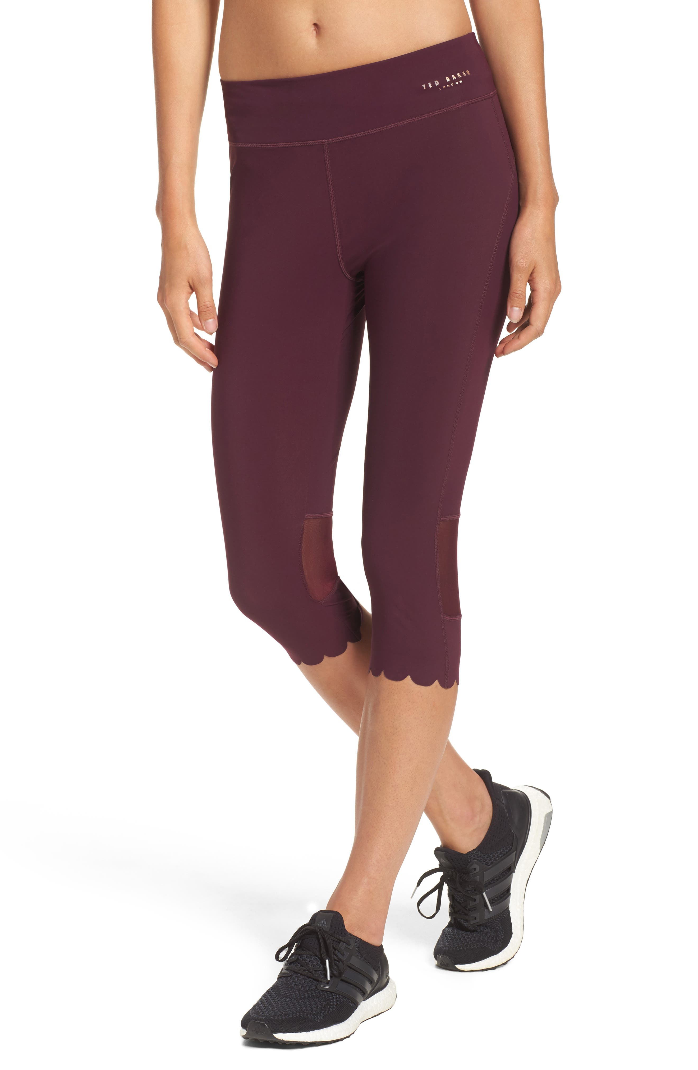 Ted Baker London Scallop Hem Leggings