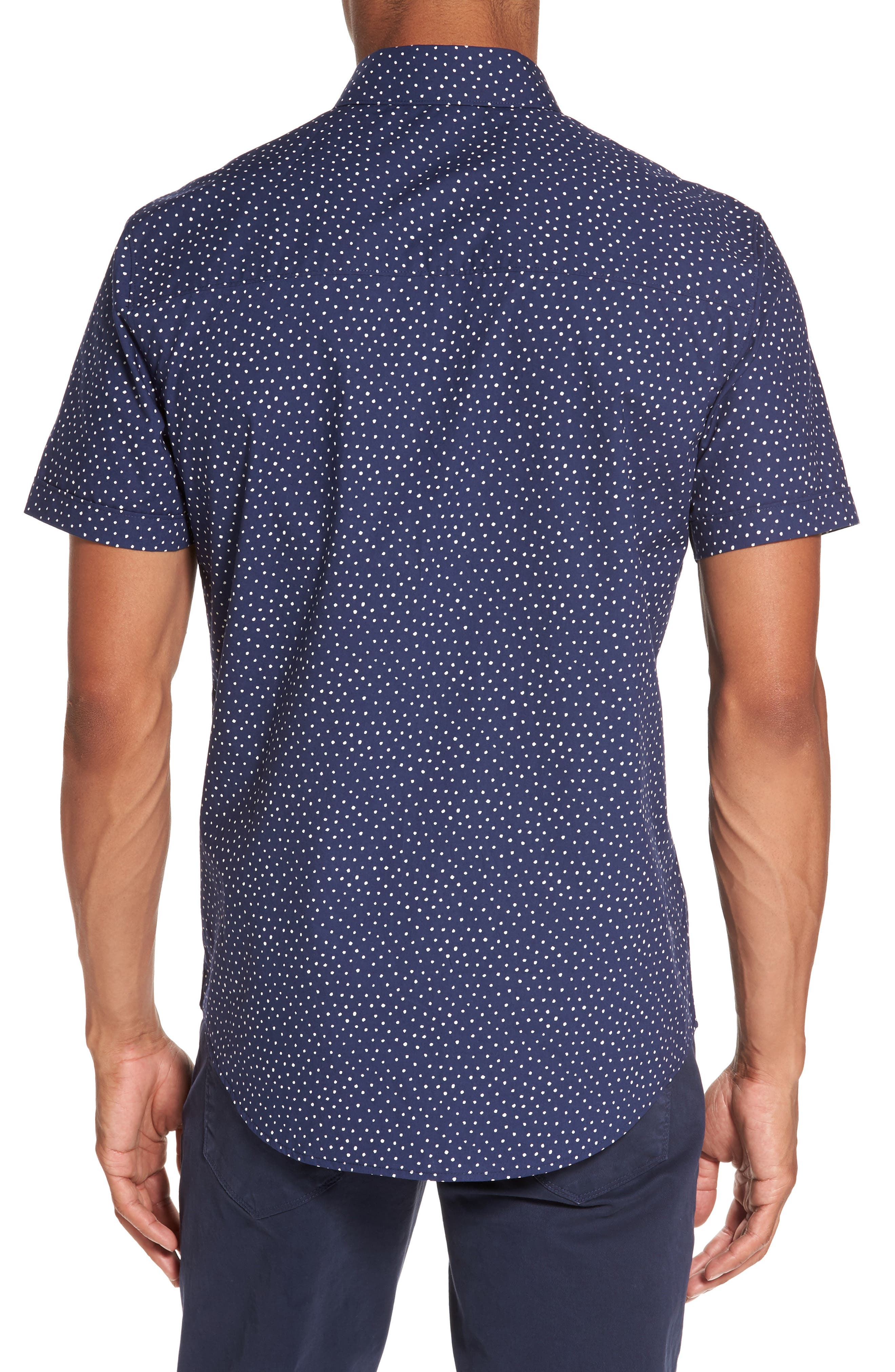 Alternate Image 2  - PAIGE Becker Dot Print Woven Shirt