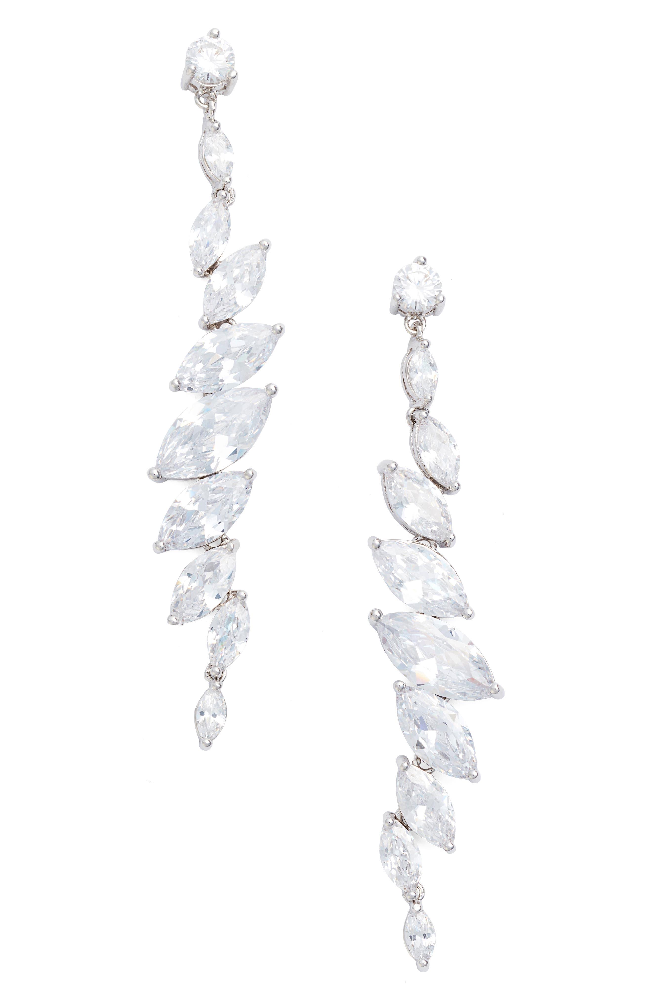 CZ by Kenneth Jay Lane Crystal Drop Earrings