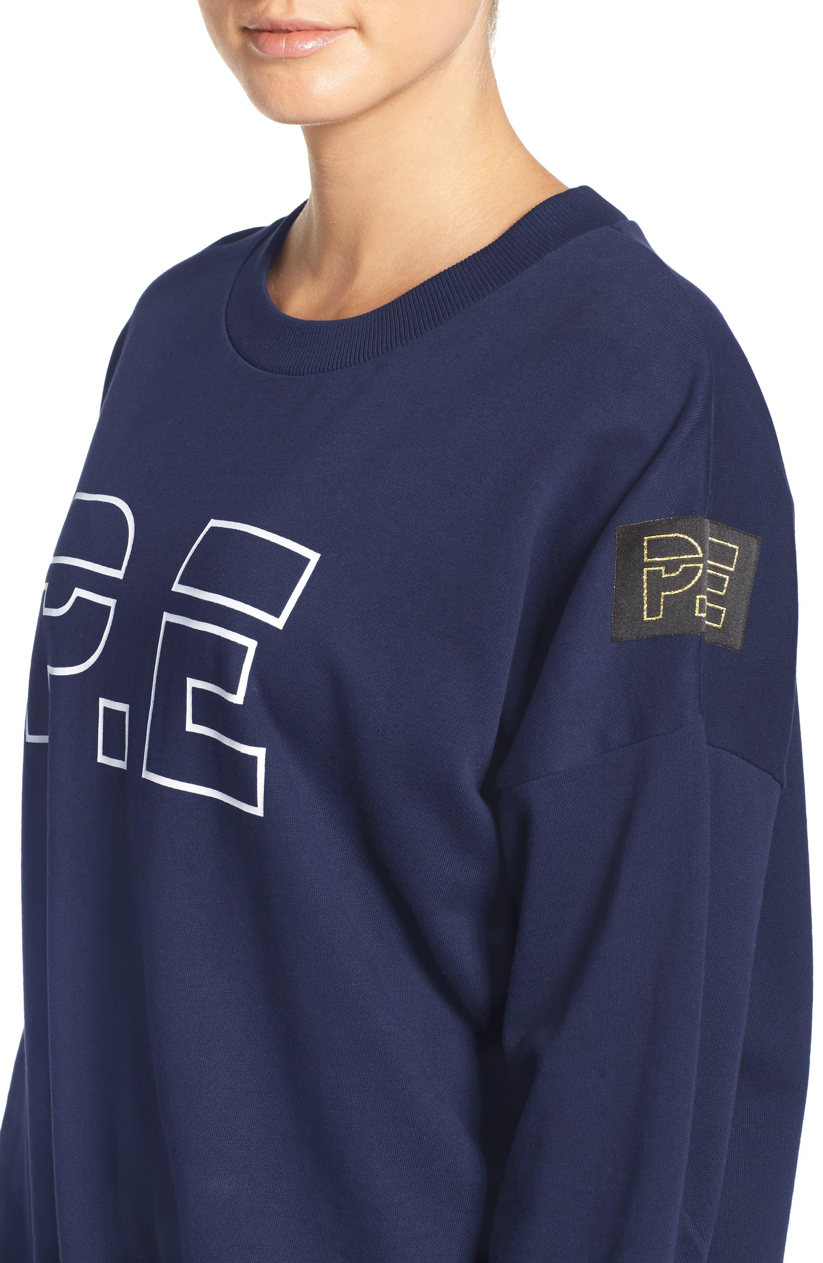 P.E. Nation The Heads Up Sweatshirt,                             Alternate thumbnail 4, color,                             Navy