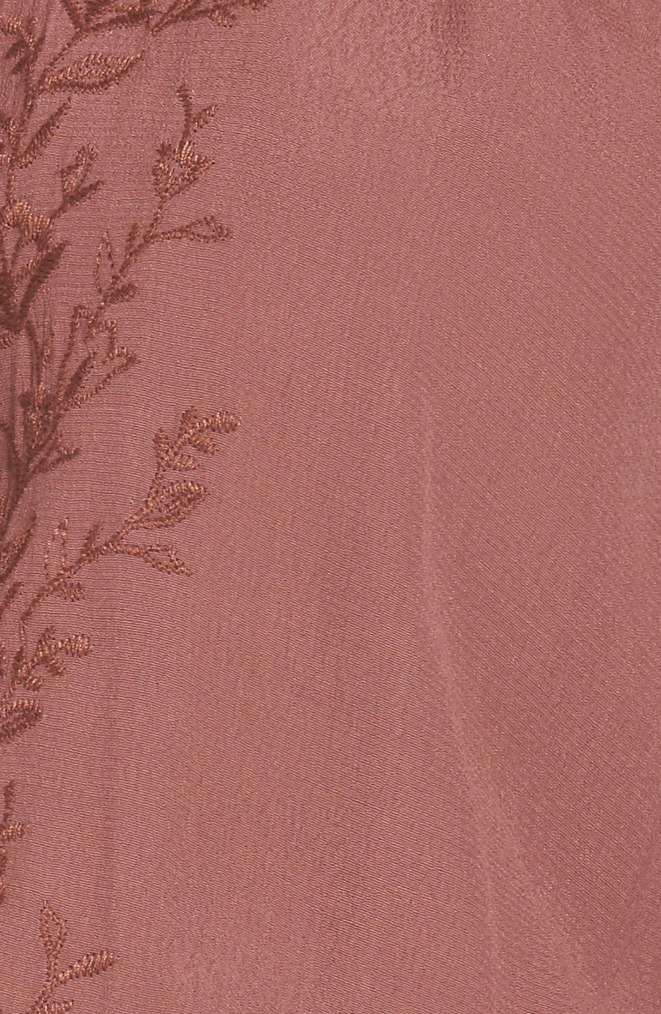 Melinda Blouson Dress,                             Alternate thumbnail 6, color,                             Dark Mauve