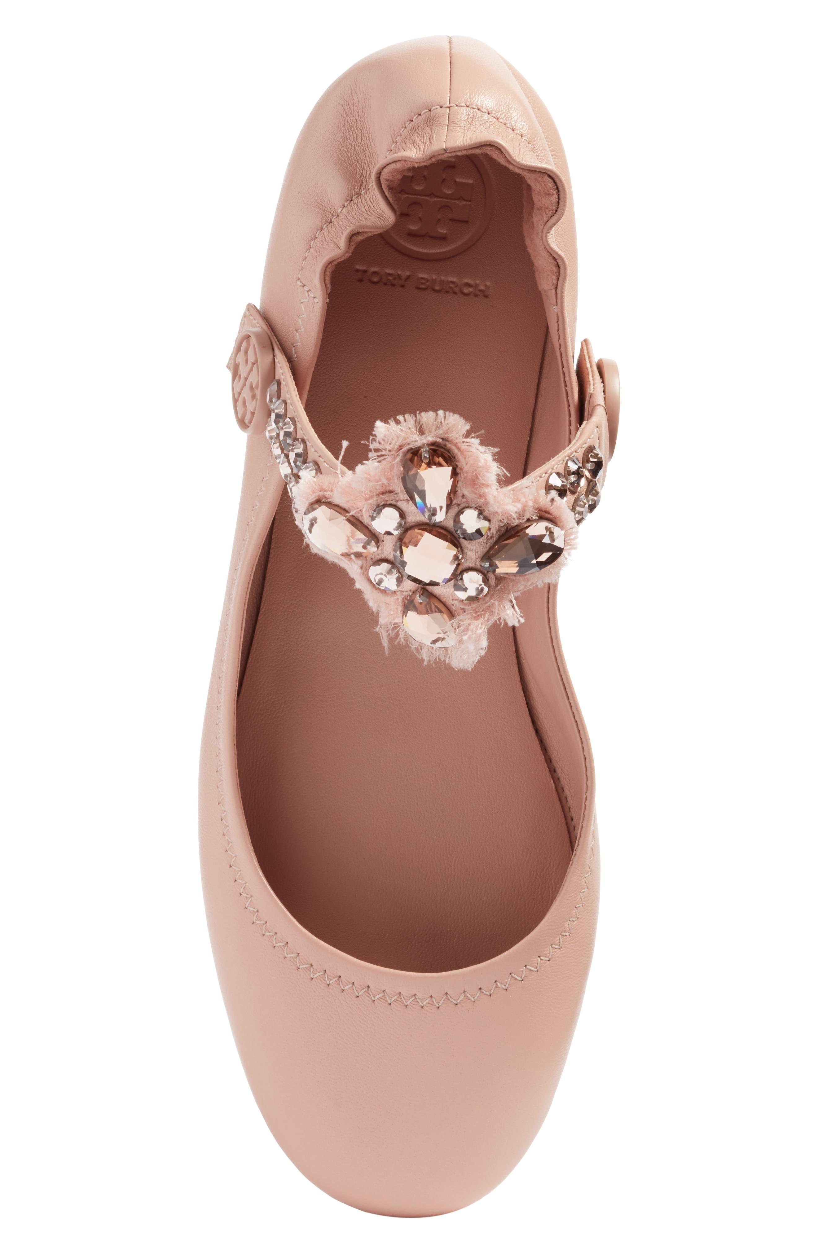 Alternate Image 6  - Tory Burch Minnie Embellished Convertible Strap Ballet Flat (Women)