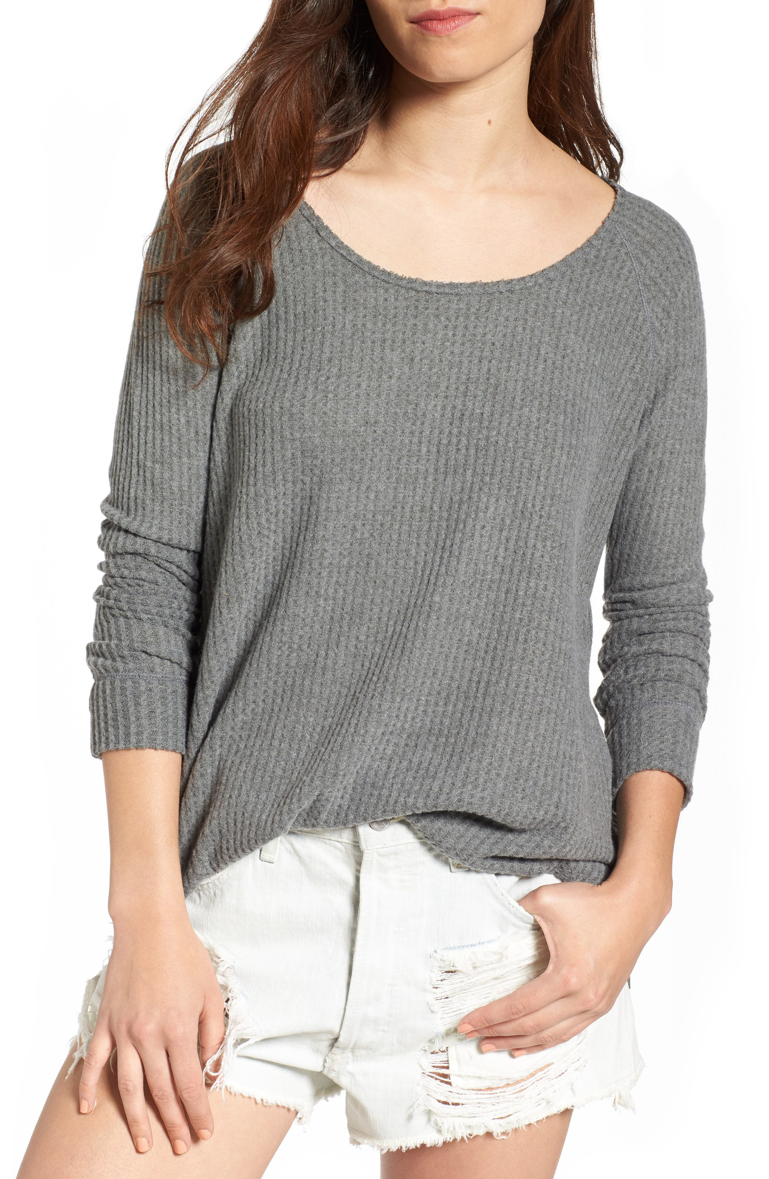 Cozy Thermal Tee,                         Main,                         color, Grey Cloudy Heather
