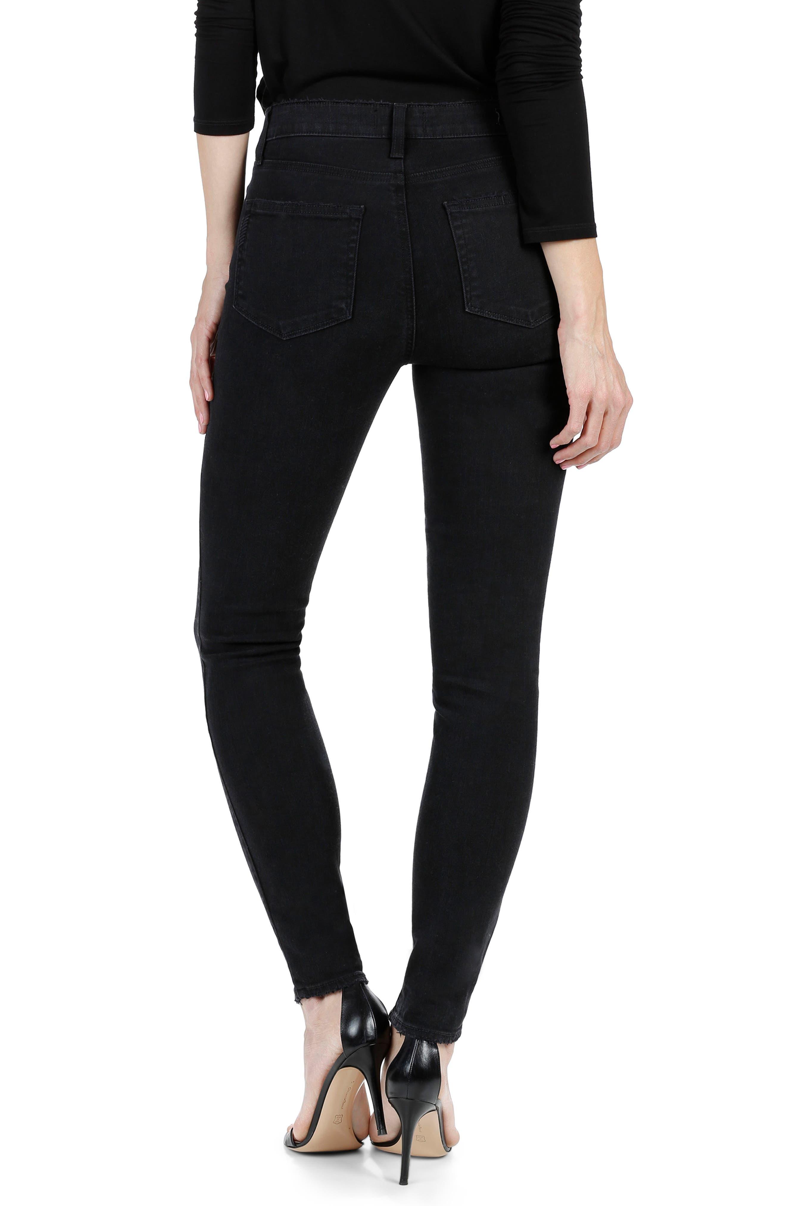 Alternate Image 2  - PAIGE Hoxton High Waist Ultra Skinny Jeans (Floral Noir)