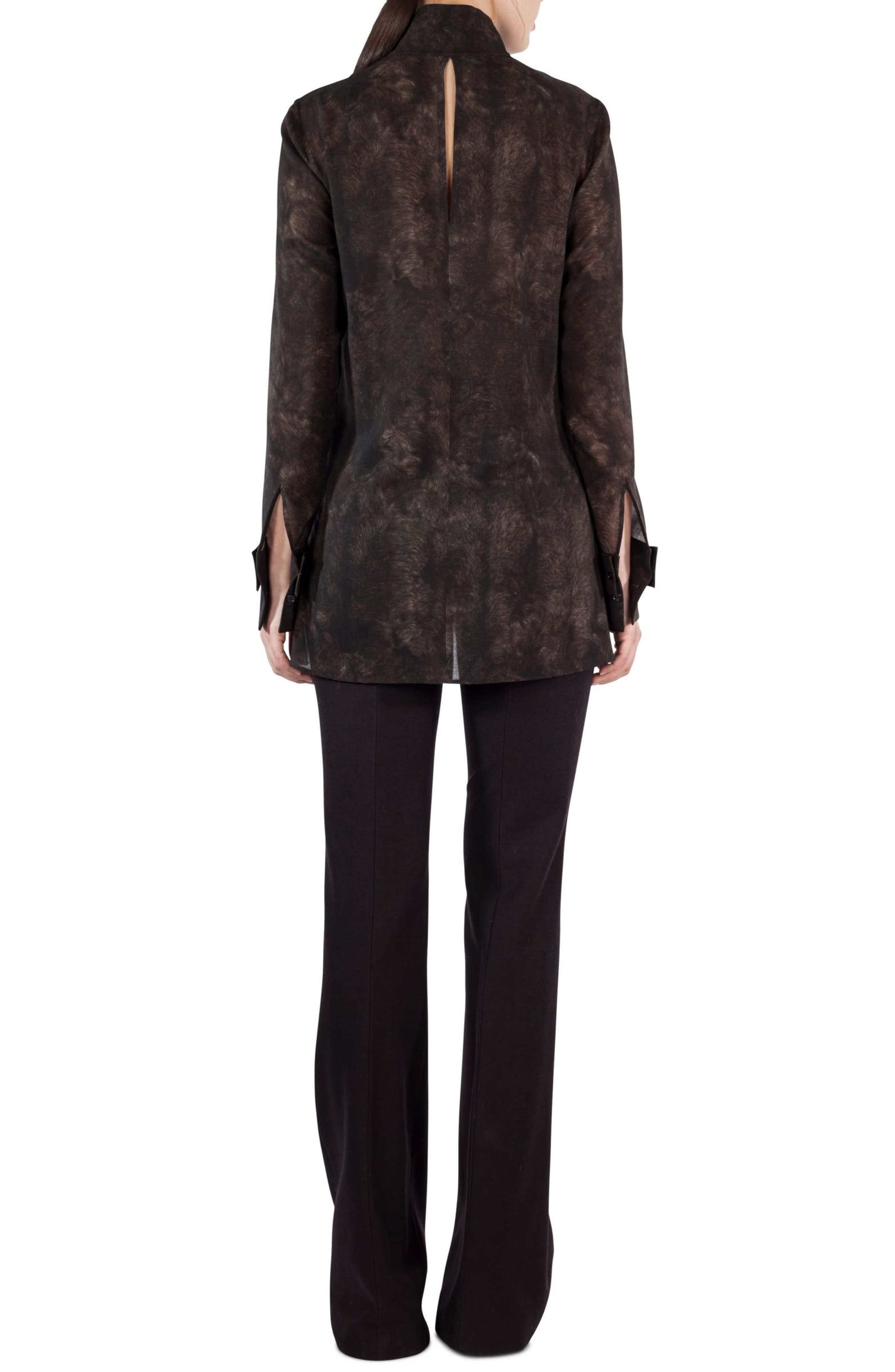 Alternate Image 2  - Akris Shearling Print Wool Mousseline Tunic