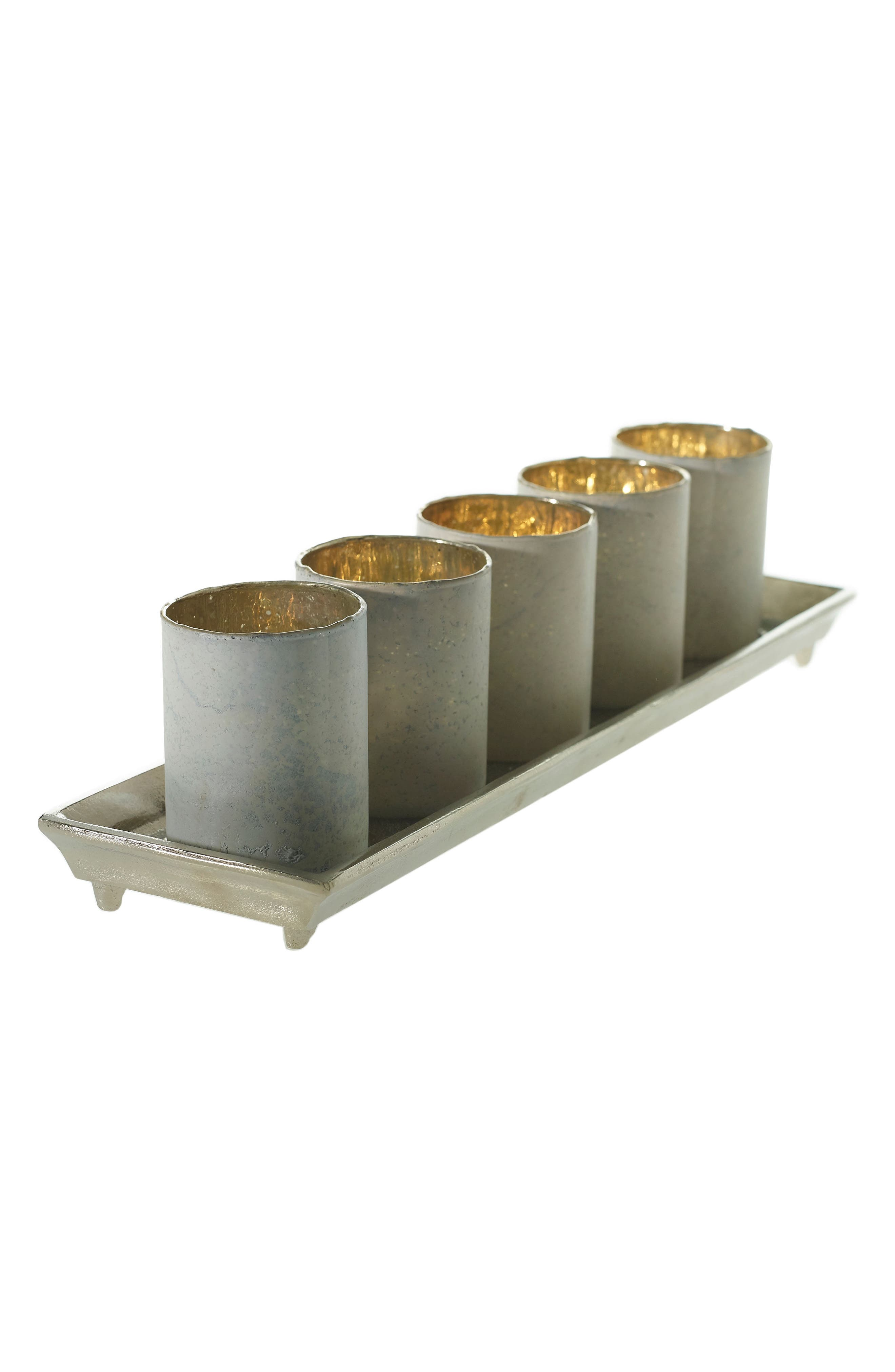 Accent Decor Wilder Set of 5 Candleholders & Tray