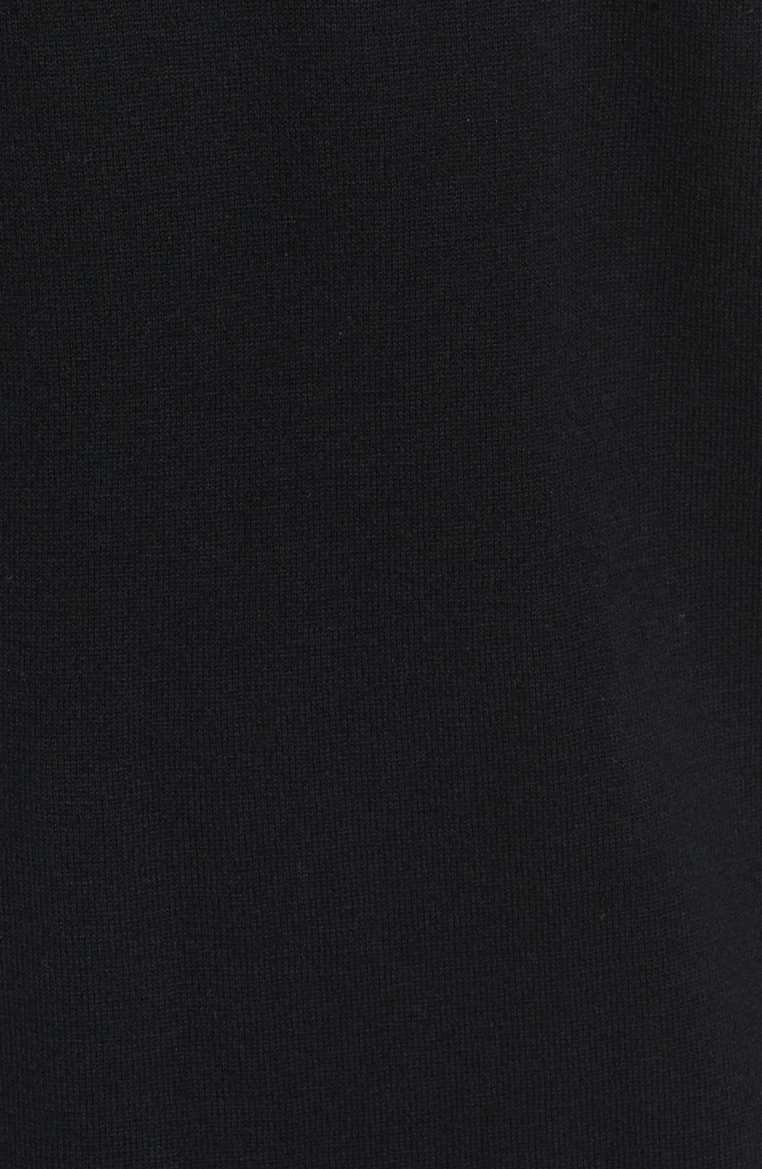 Marissa Sweater Dress,                             Alternate thumbnail 5, color,                             True Black