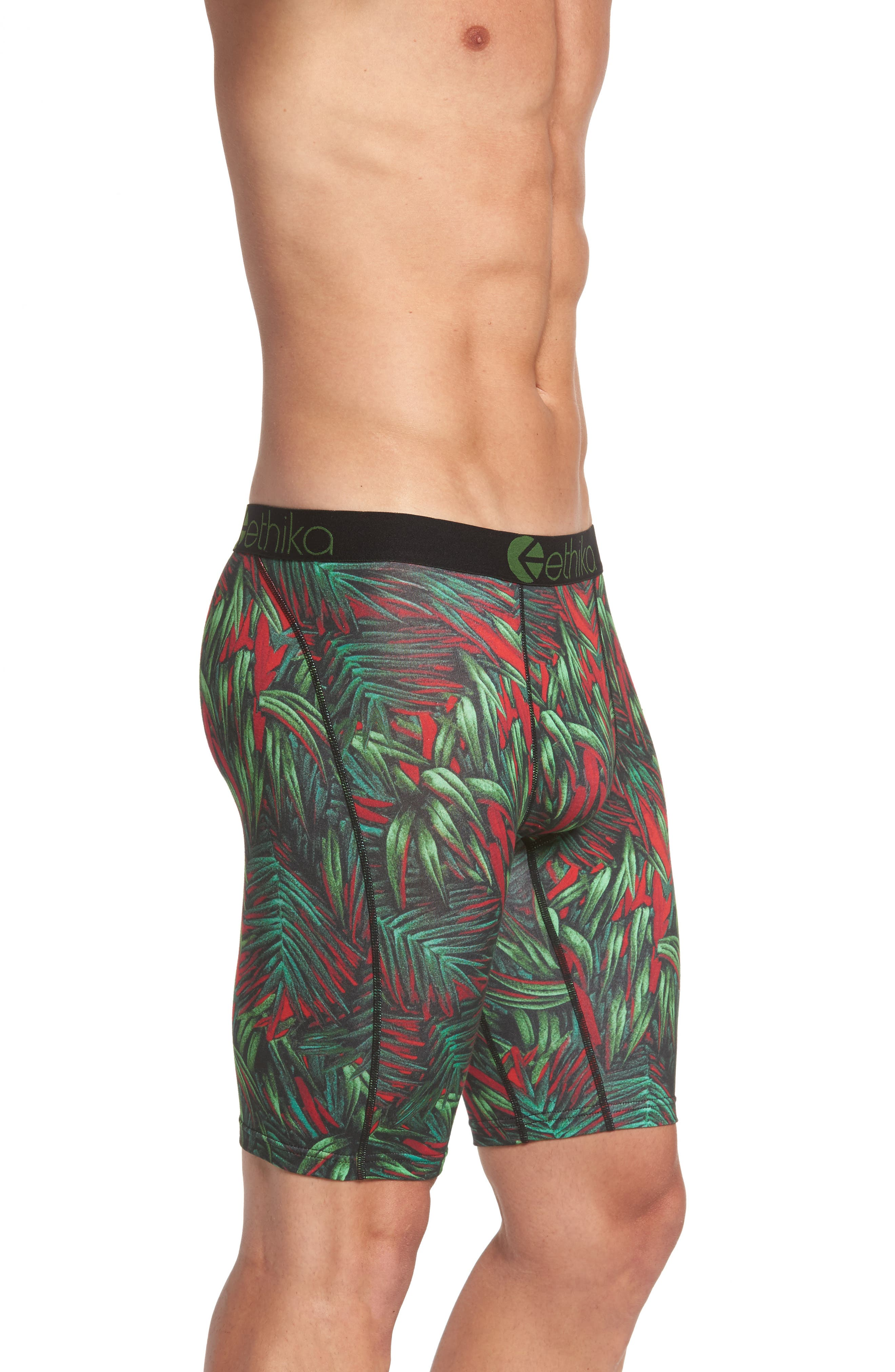 Electric Palms Boxer Briefs,                             Alternate thumbnail 3, color,                             Green/ Red