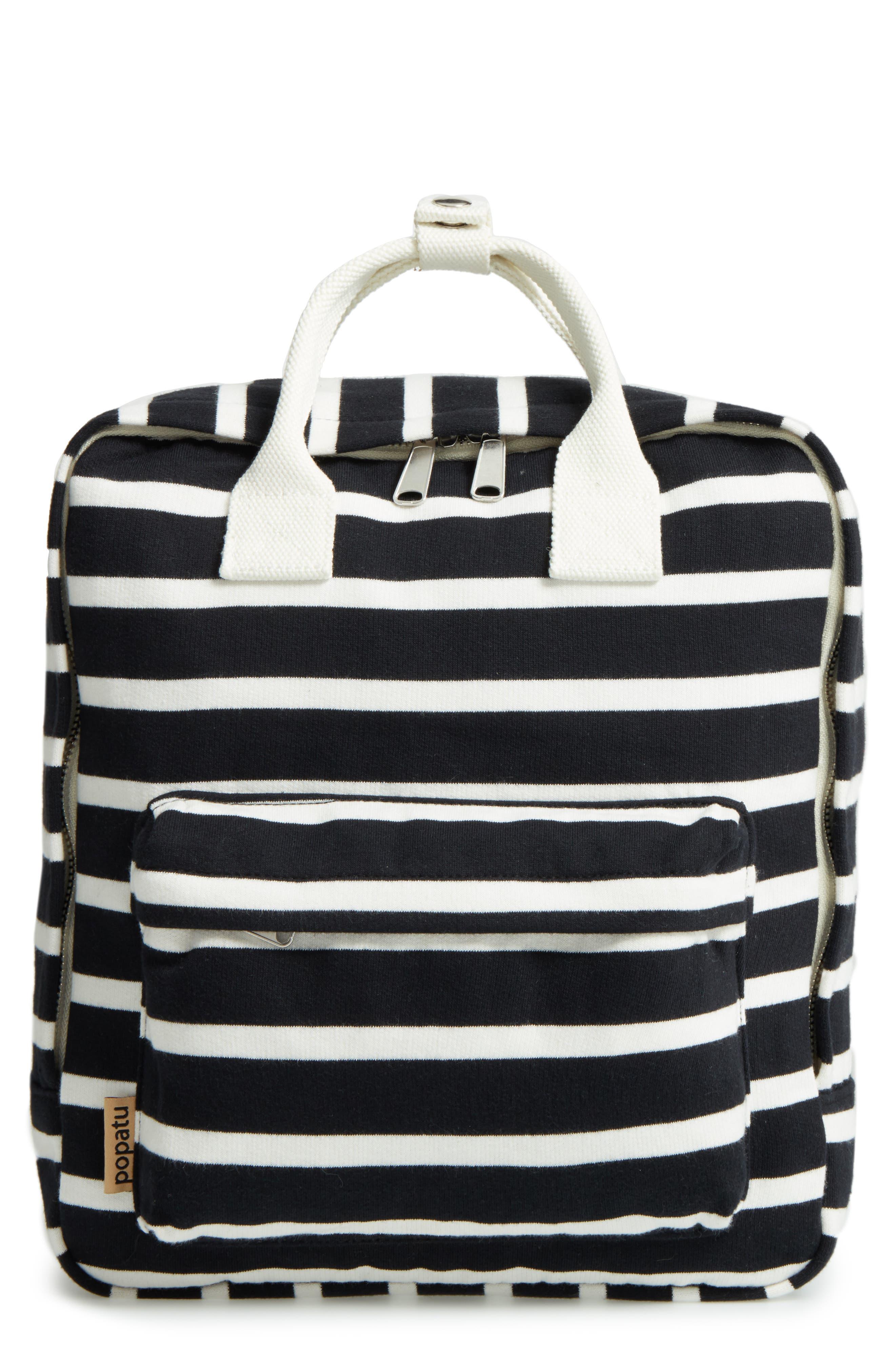 Popatu Stripe Jersey Knit Backpack (Kids)