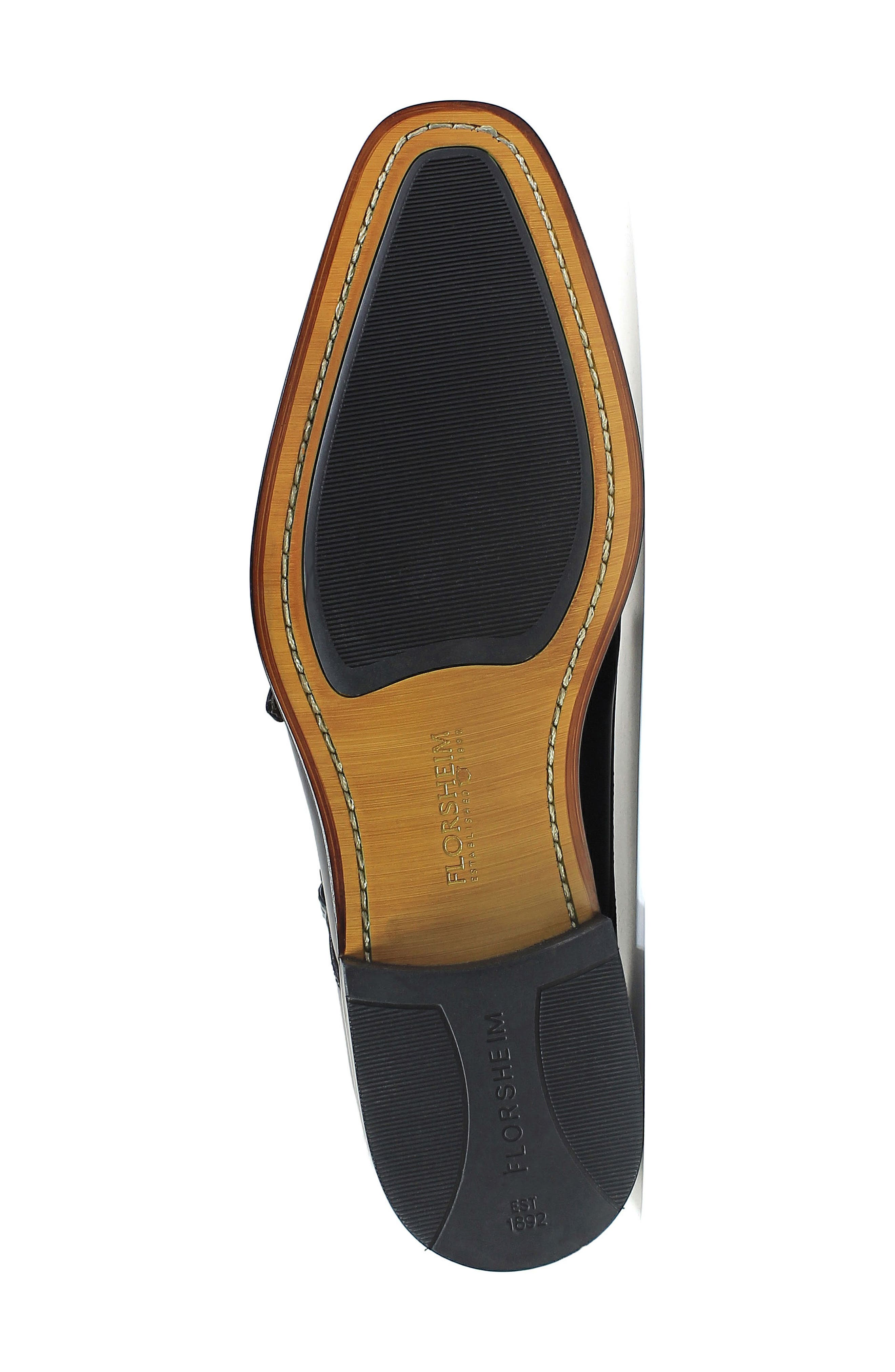 Belfast Double Monk Strap Boot,                             Alternate thumbnail 6, color,                             Brown Leather