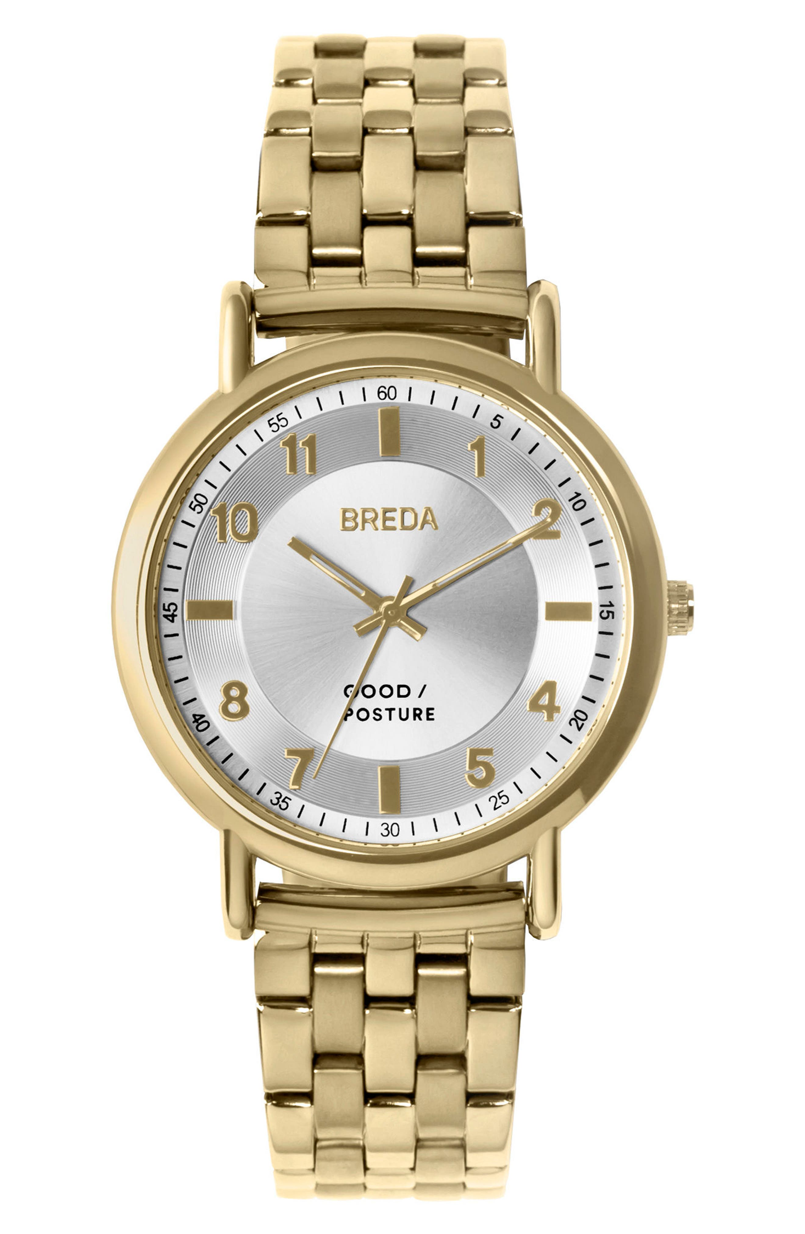 Alternate Image 1 Selected - BREDA Blossom Round Bracelet Watch, 41mm