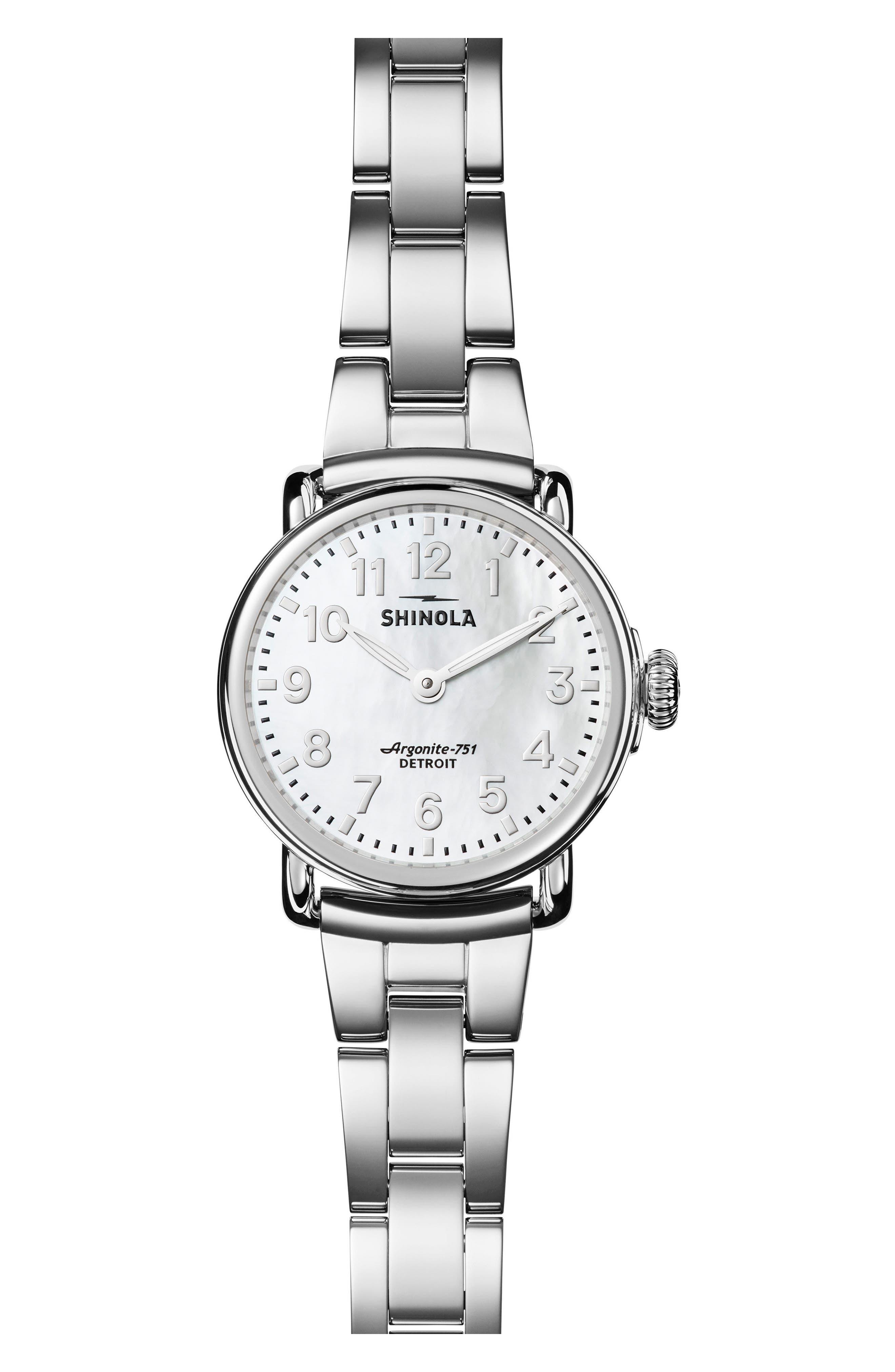 Main Image - Shinola Runwell Bracelet Watch, 28mm