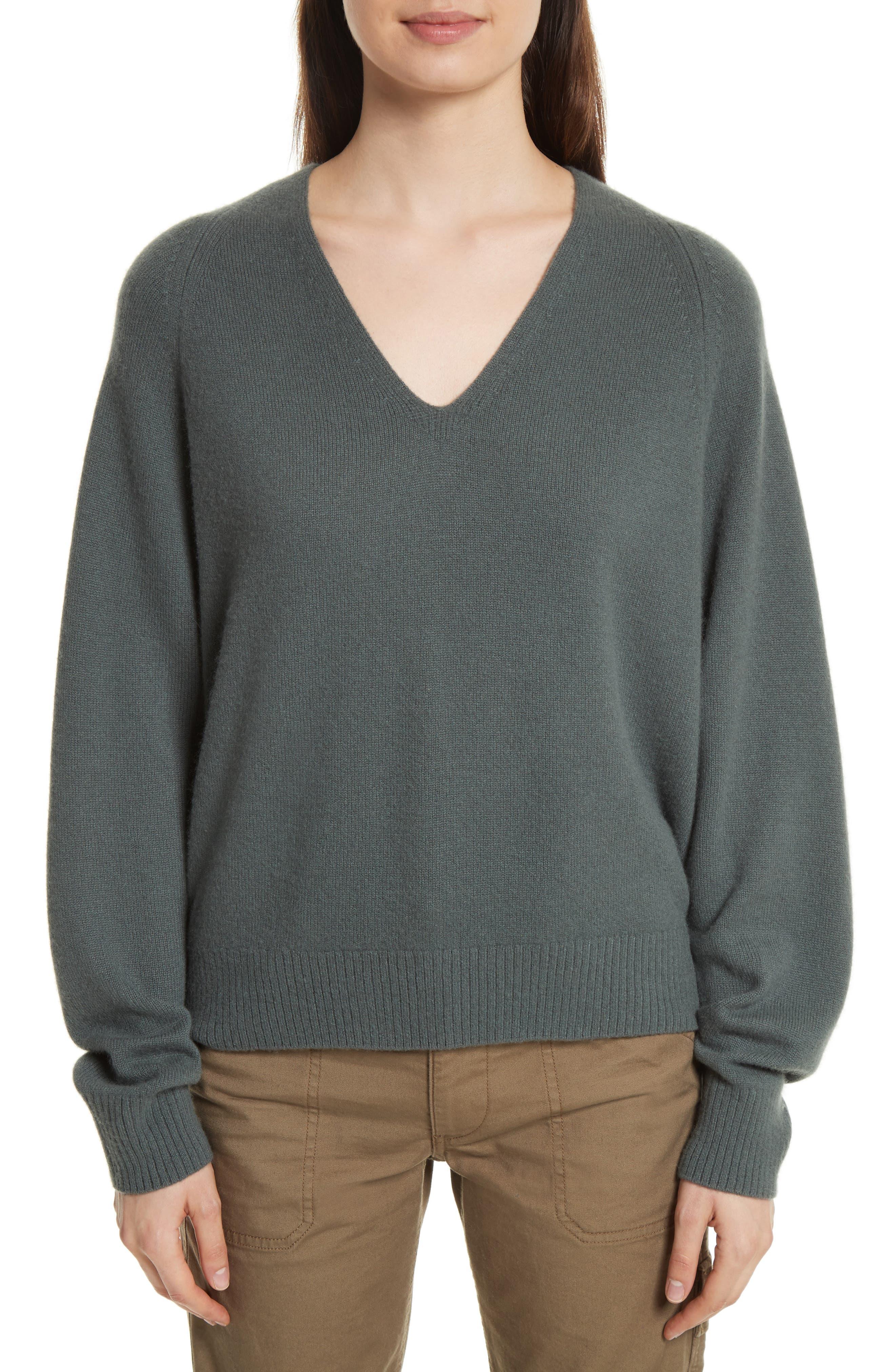 Alternate Image 1 Selected - Vince Deep V-Neck Cashmere Sweater