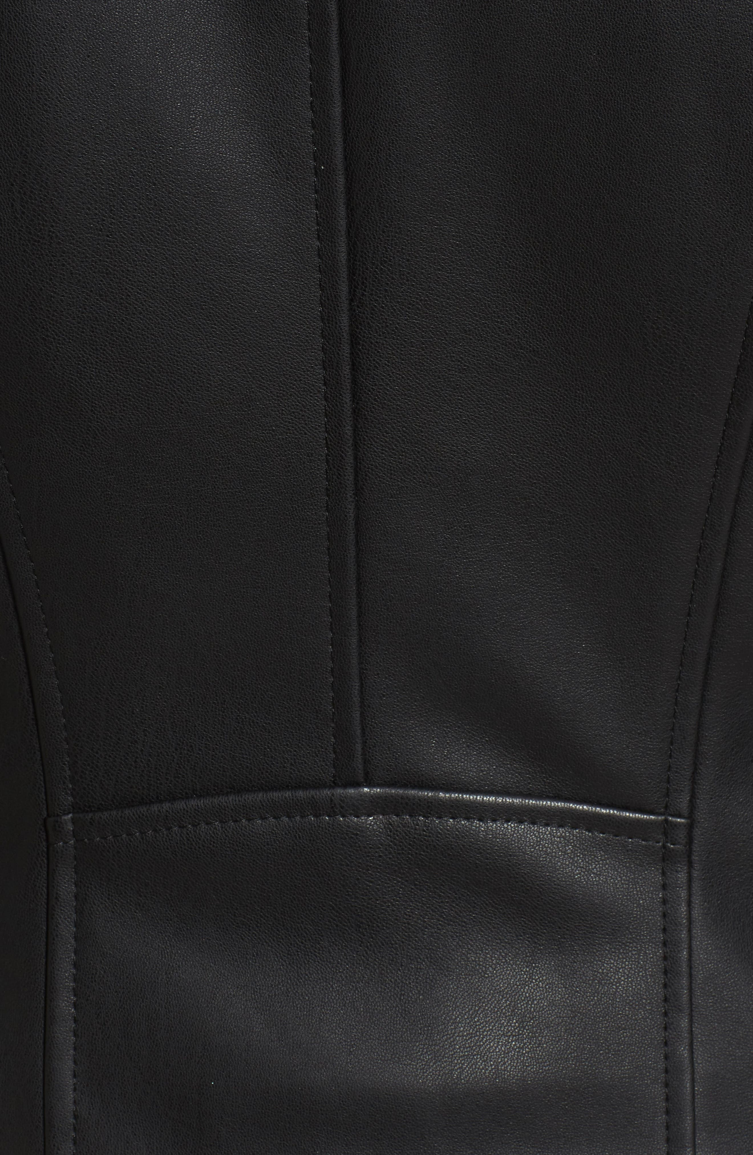 Alternate Image 5  - Cole Haan Signature Faux Leather Jacket with Detachable Faux Fur