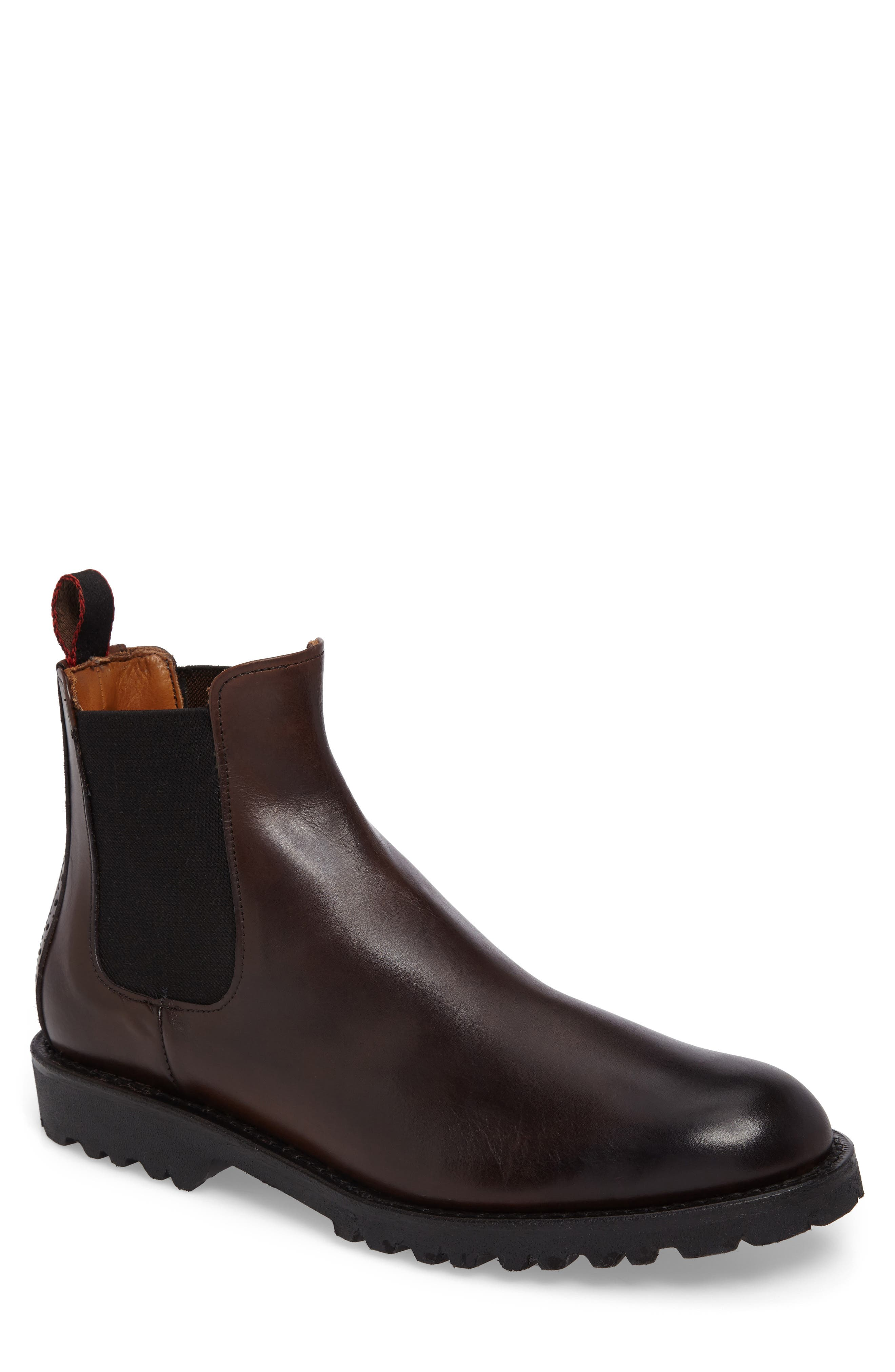 Tate Chelsea Boot,                         Main,                         color, Brown Leather