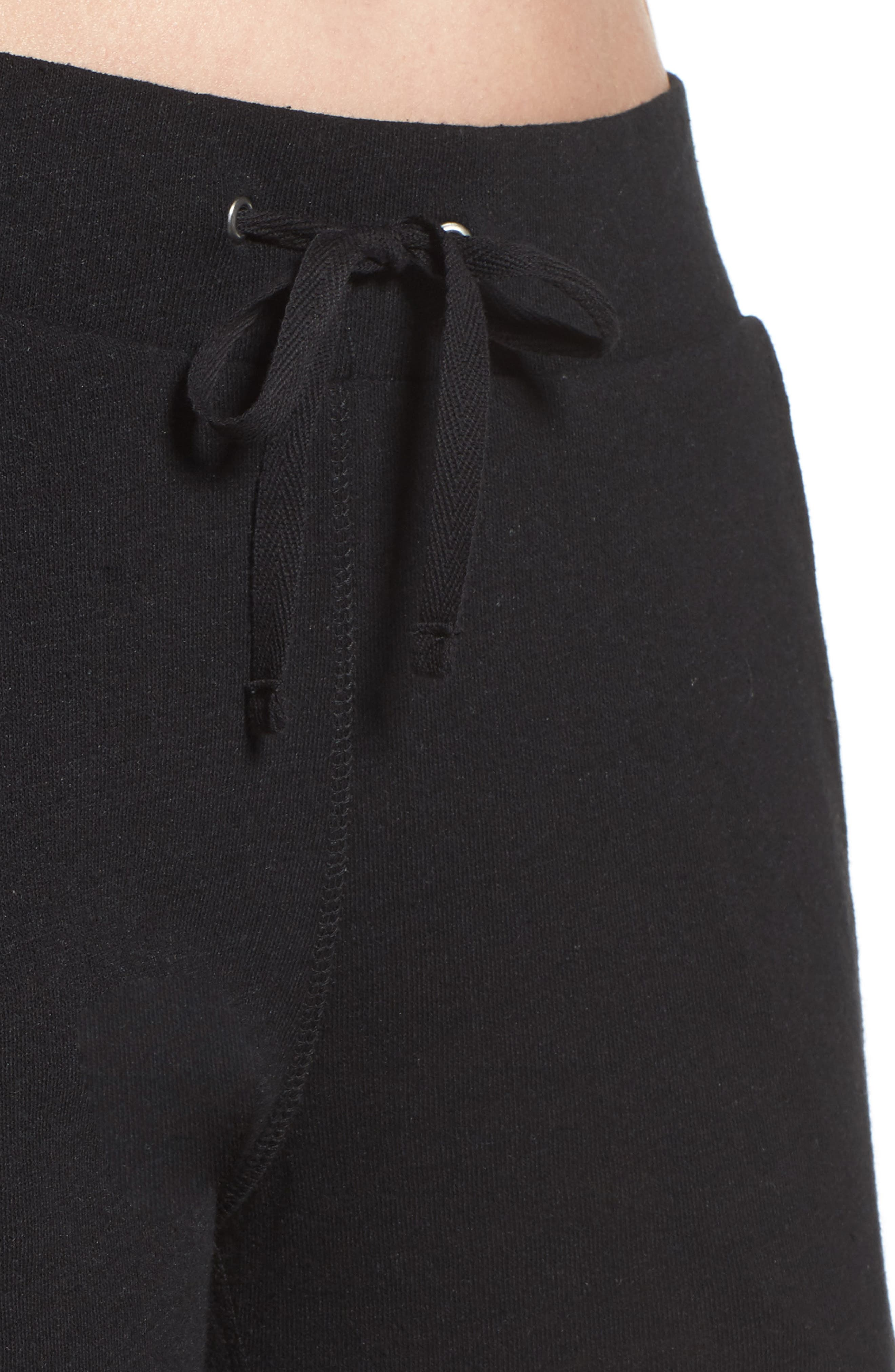 Clementine Cotton & Silk Pajama Pants,                             Alternate thumbnail 6, color,                             Black