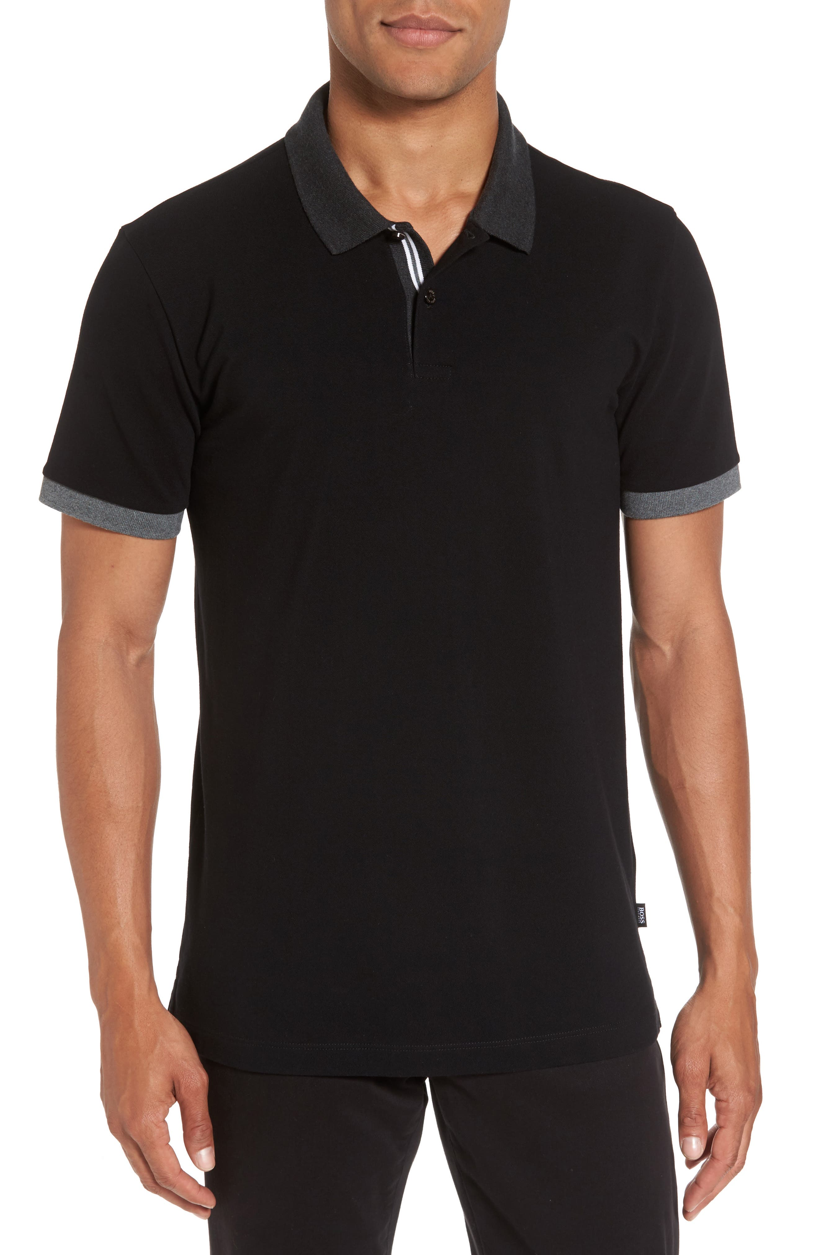 BOSS Contrast Trim Polo