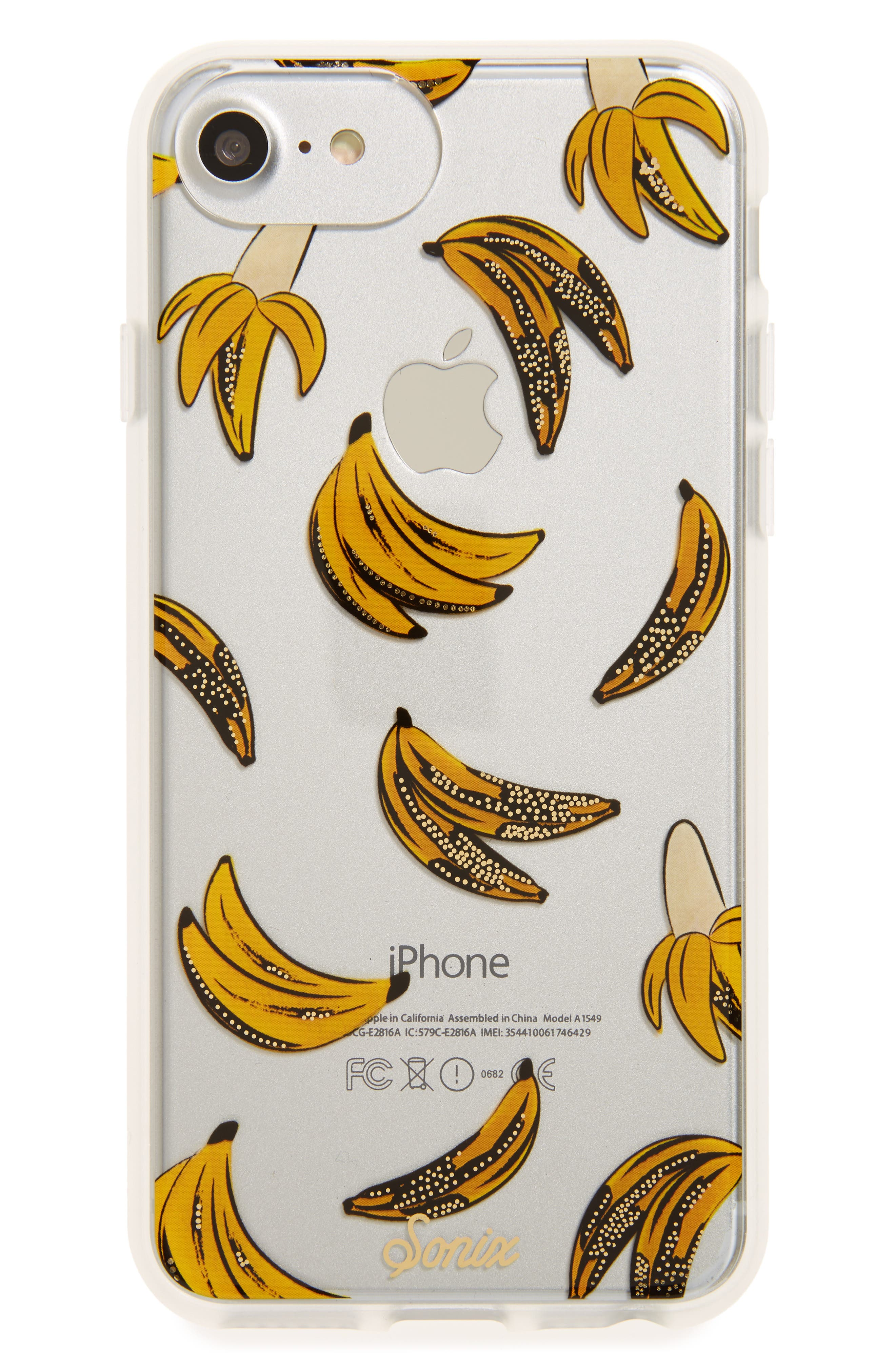 Banana Babe iPhone 6/6s/7/8 & 6/6s/7/8 Plus Case,                         Main,                         color, Yellow