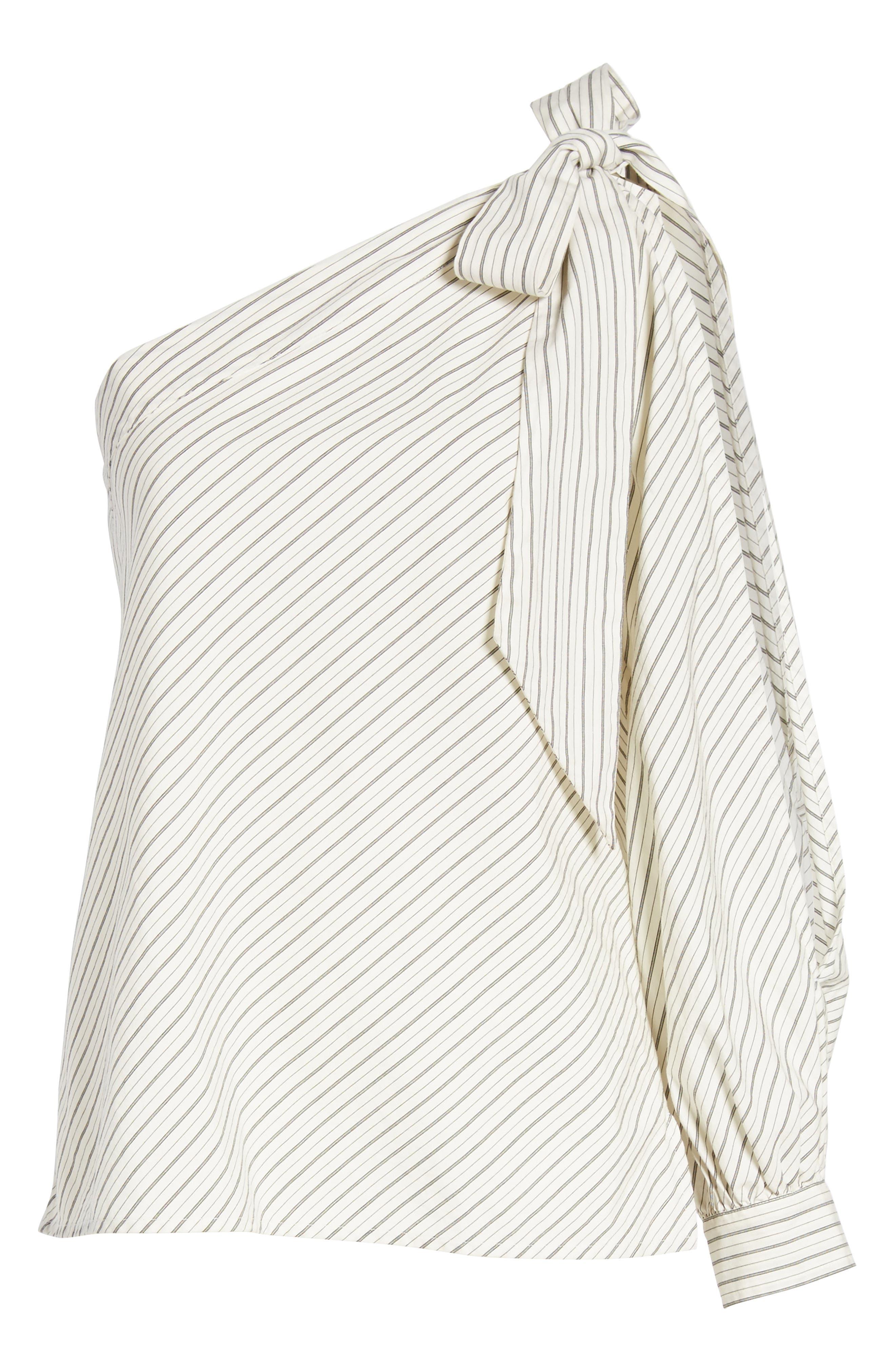 Alternate Image 6  - BP. Split Sleeve One-Shoulder Top