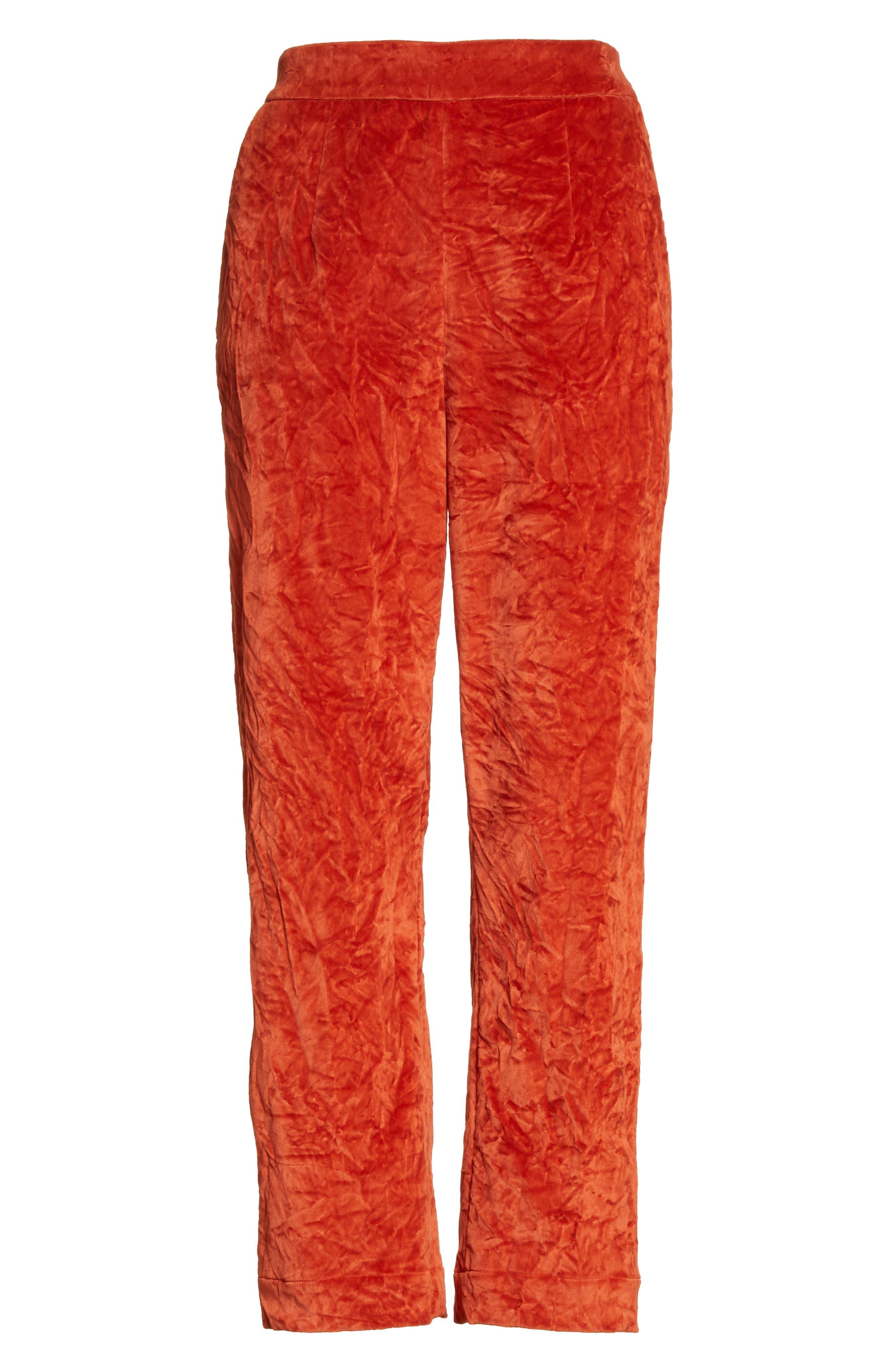 Alternate Image 6  - Isa Arfen Crushed Velvet Pants