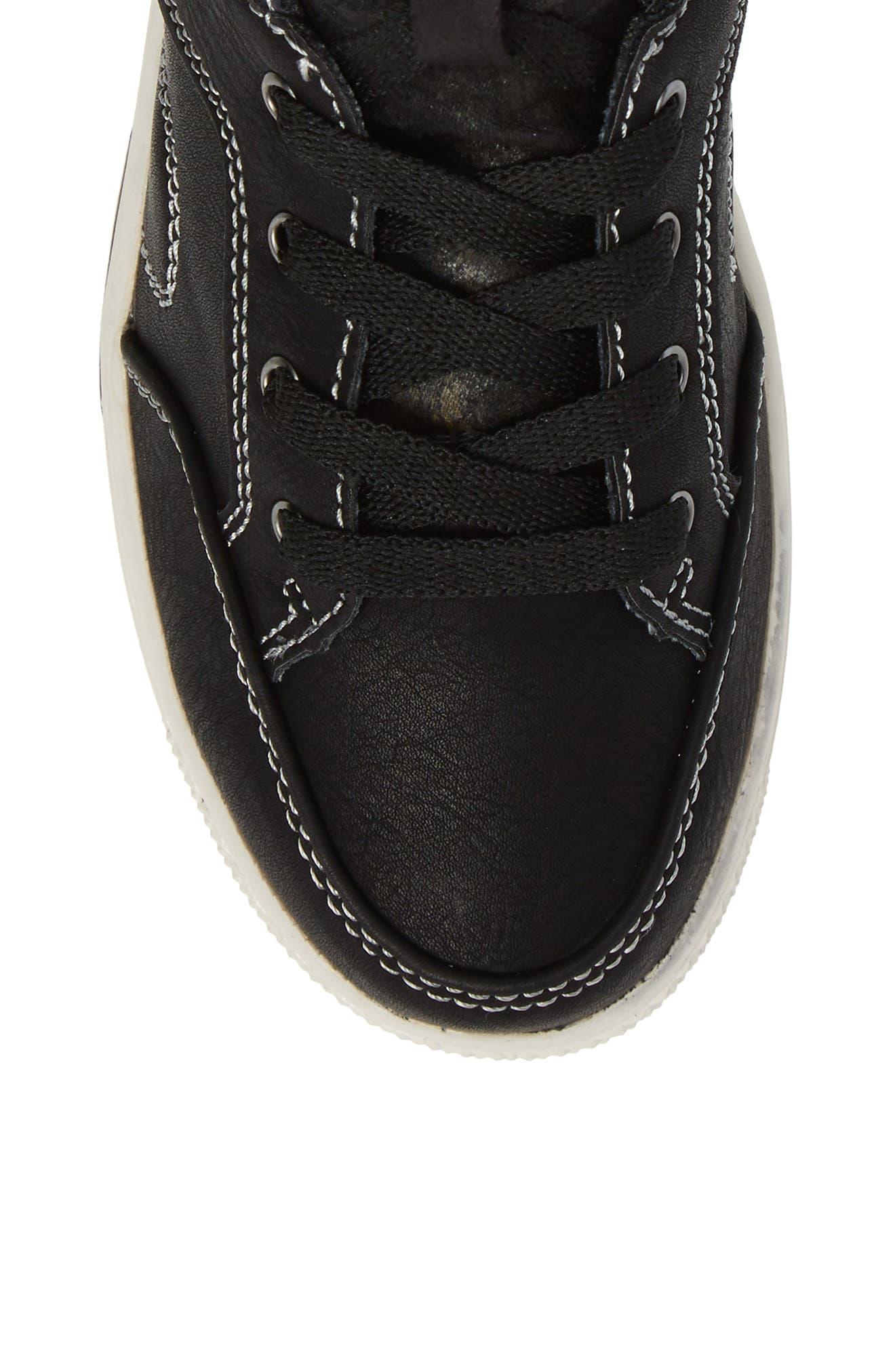 Cooler High Top Sneaker,                             Alternate thumbnail 5, color,                             Black