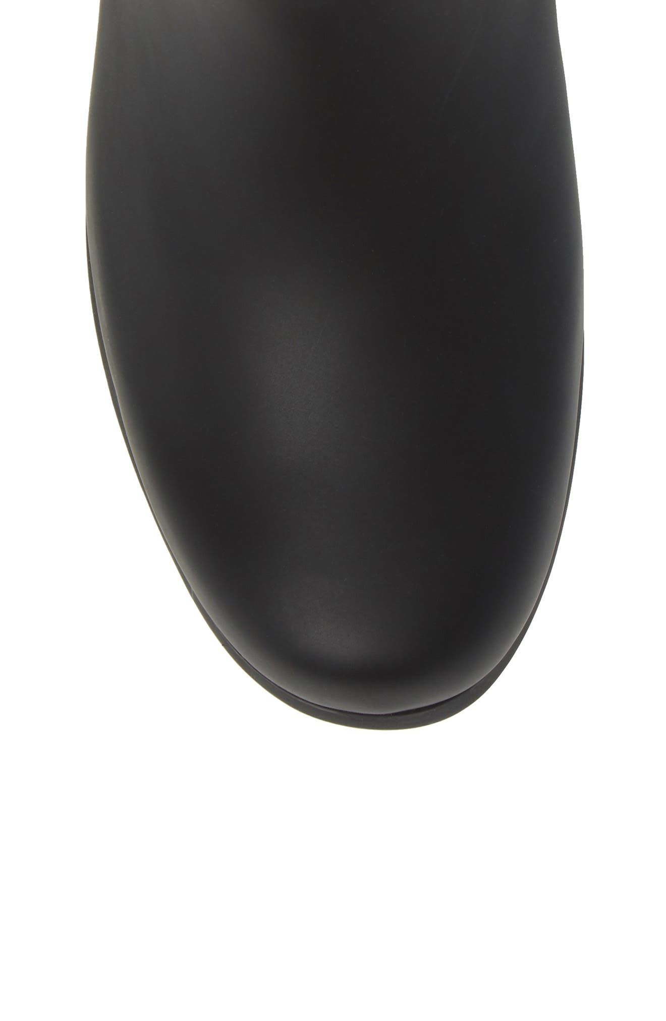 City Solid Mid Height Rain Boot,                             Alternate thumbnail 5, color,                             Black