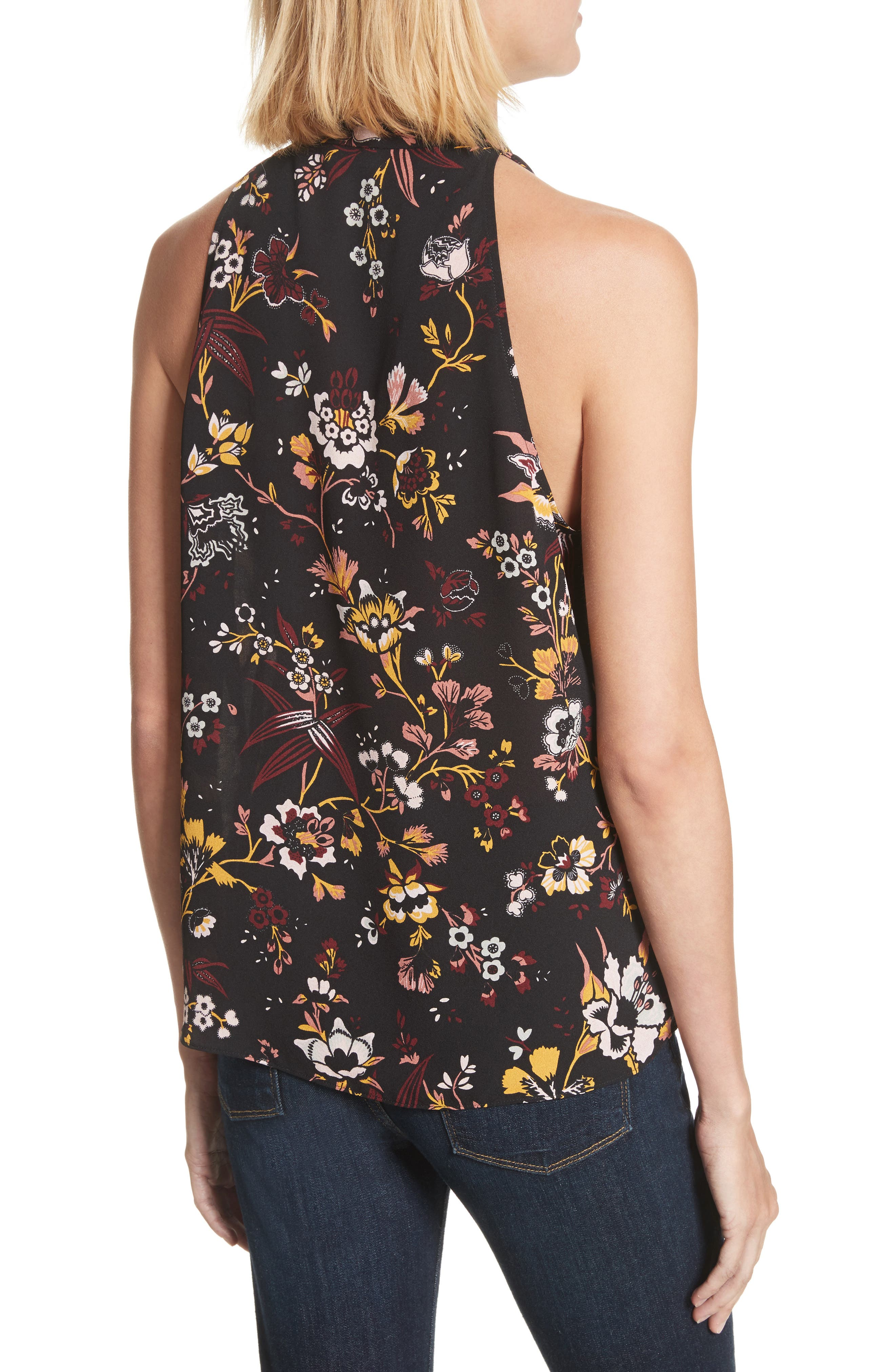 Alternate Image 2  - A.L.C. Keith Floral Print Silk Top