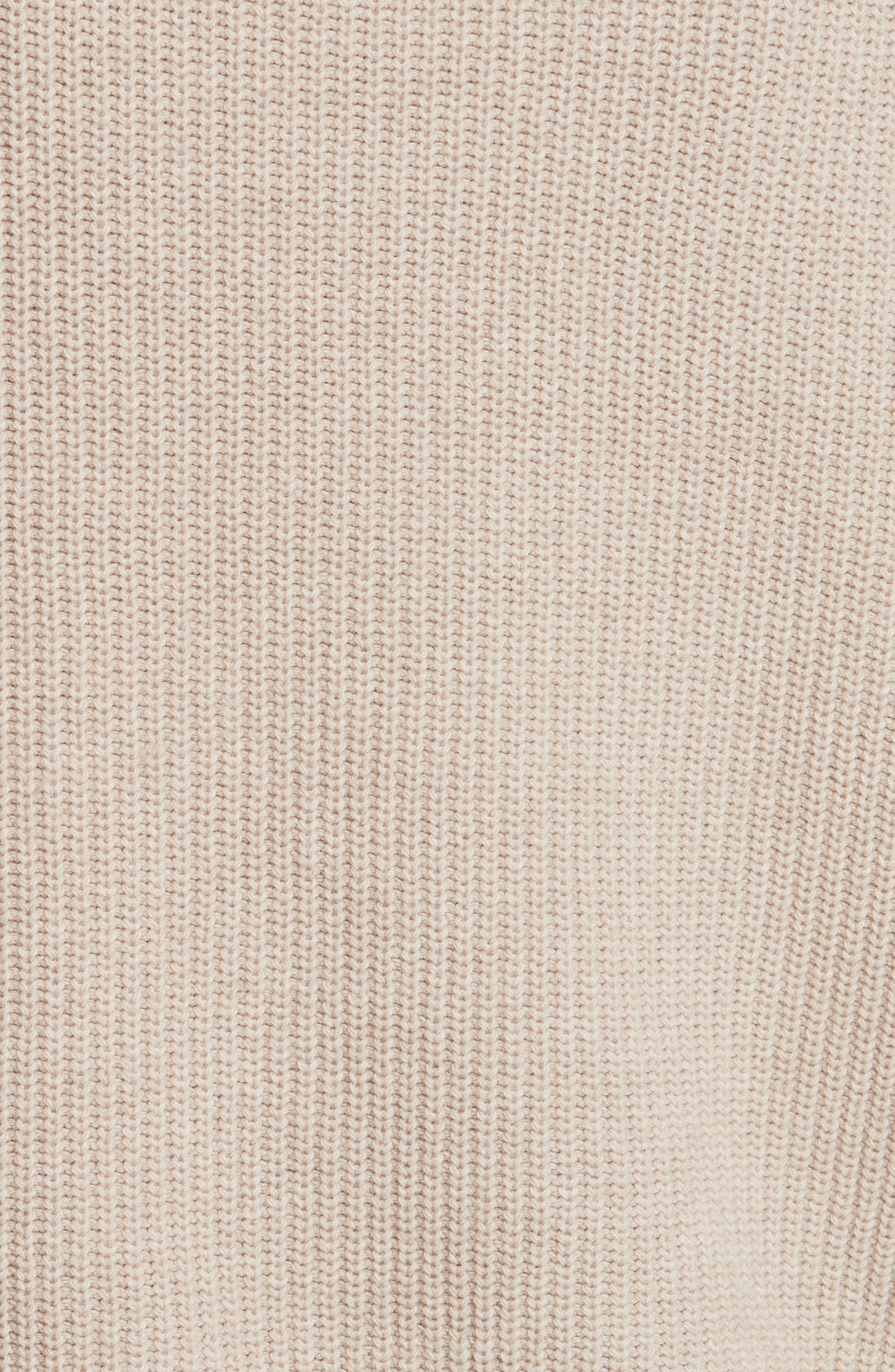 Layered Rib Pullover,                             Alternate thumbnail 5, color,                             Linen