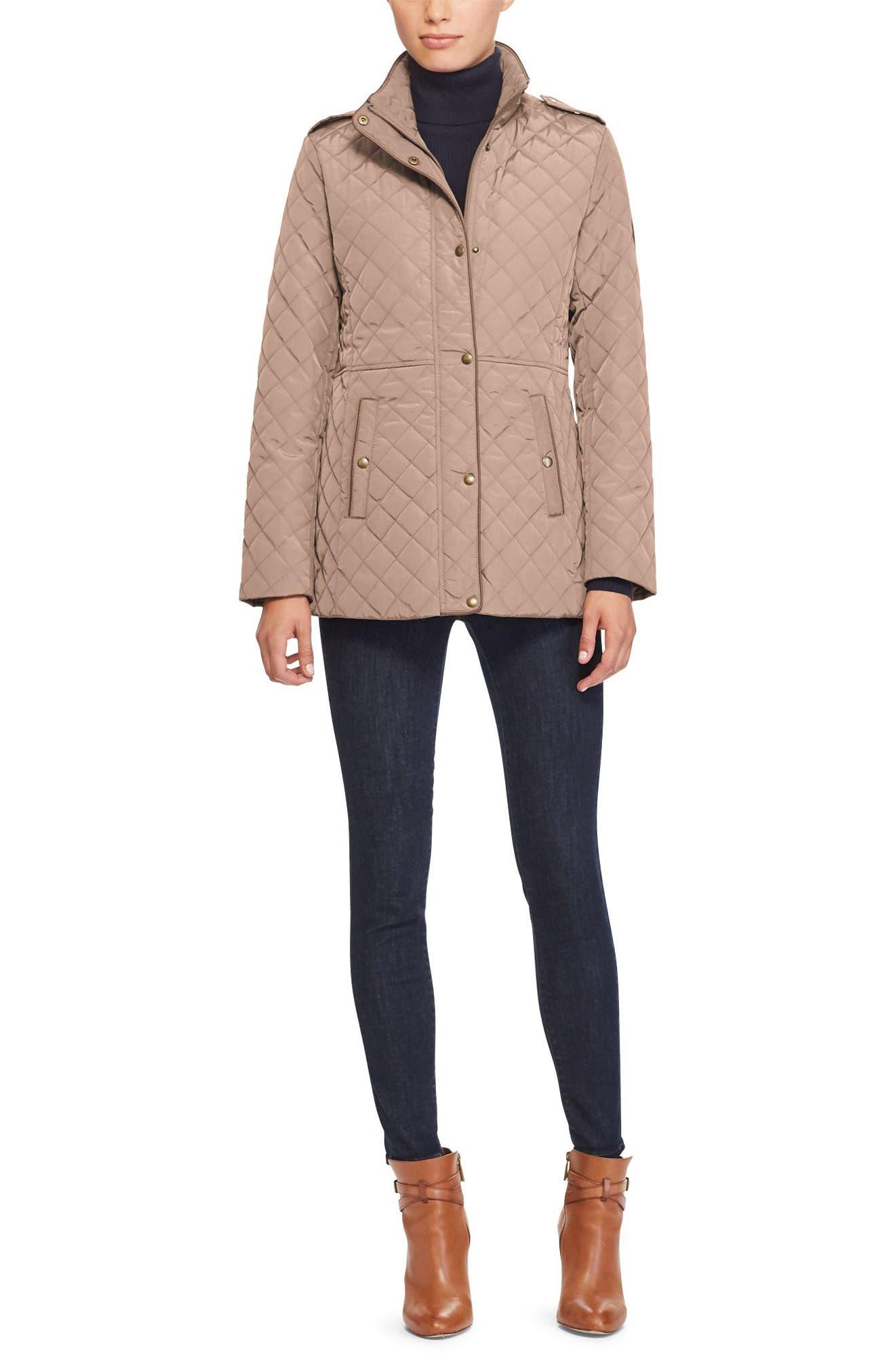 Alternate Image 2  - Lauren Ralph Lauren Quilted Field Jacket