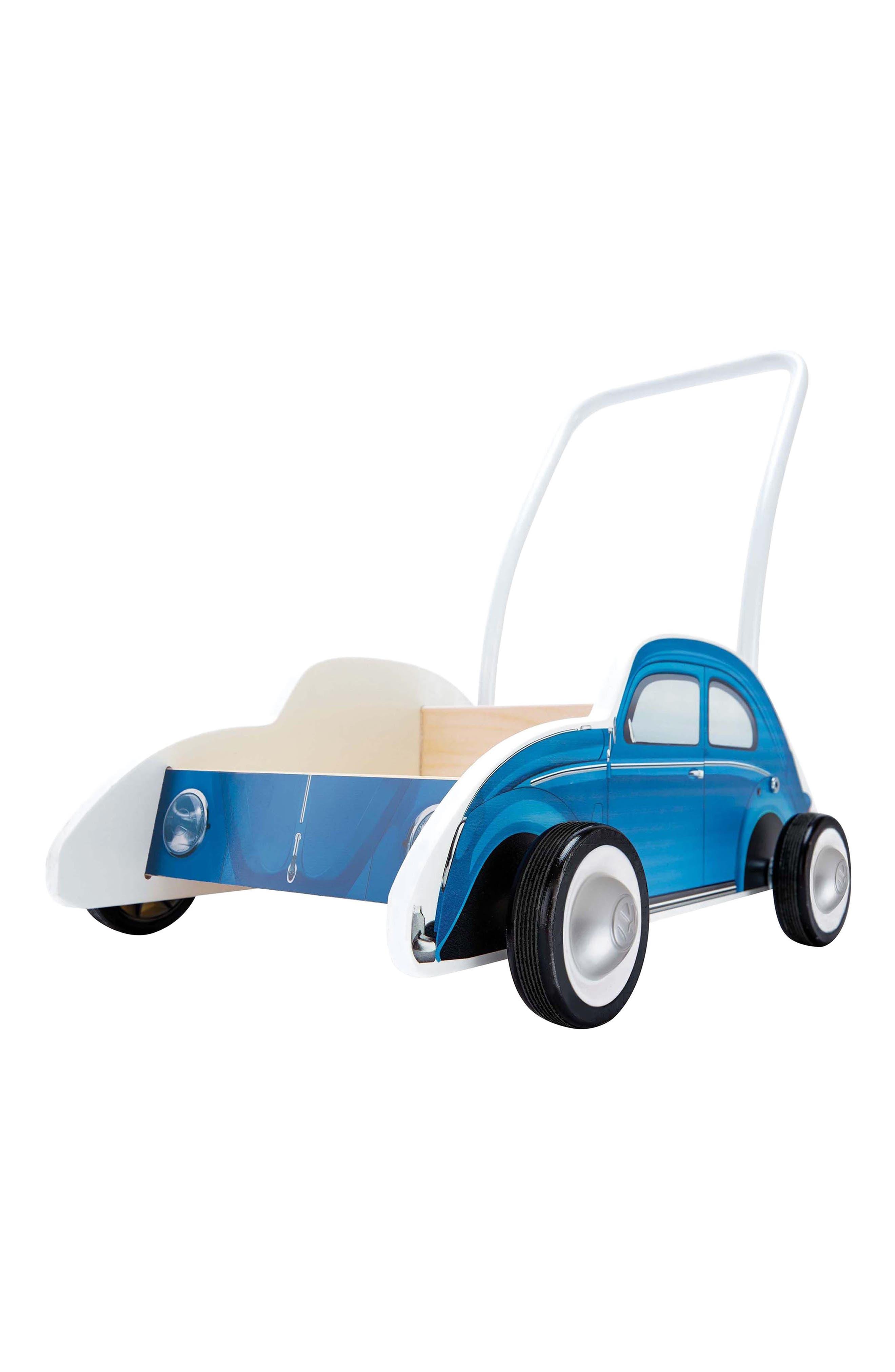Wooden Push Car,                             Alternate thumbnail 3, color,                             Blue