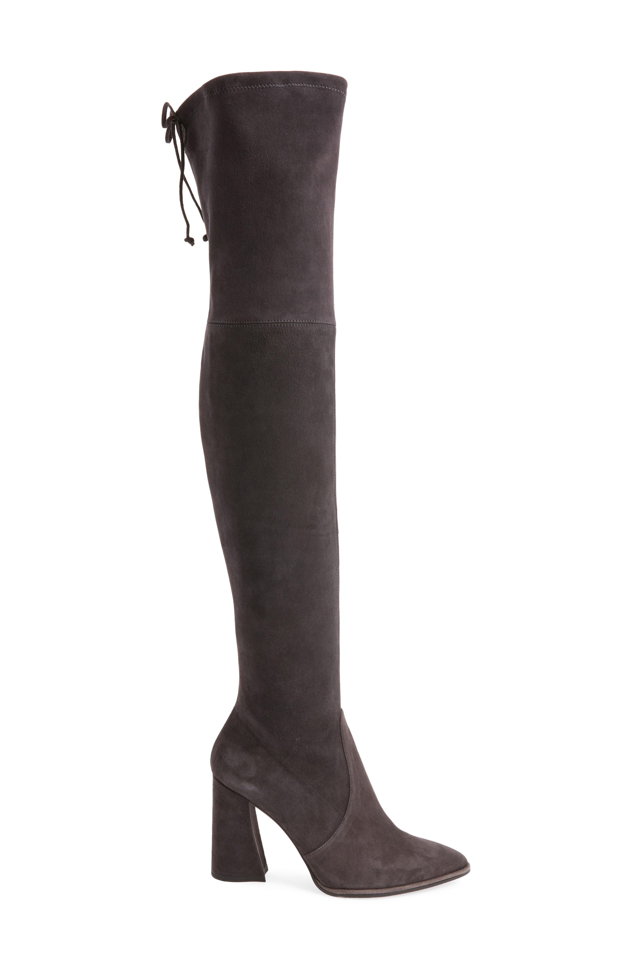 Funland Over the Knee Boot,                             Alternate thumbnail 3, color,                             Anthracite Suede