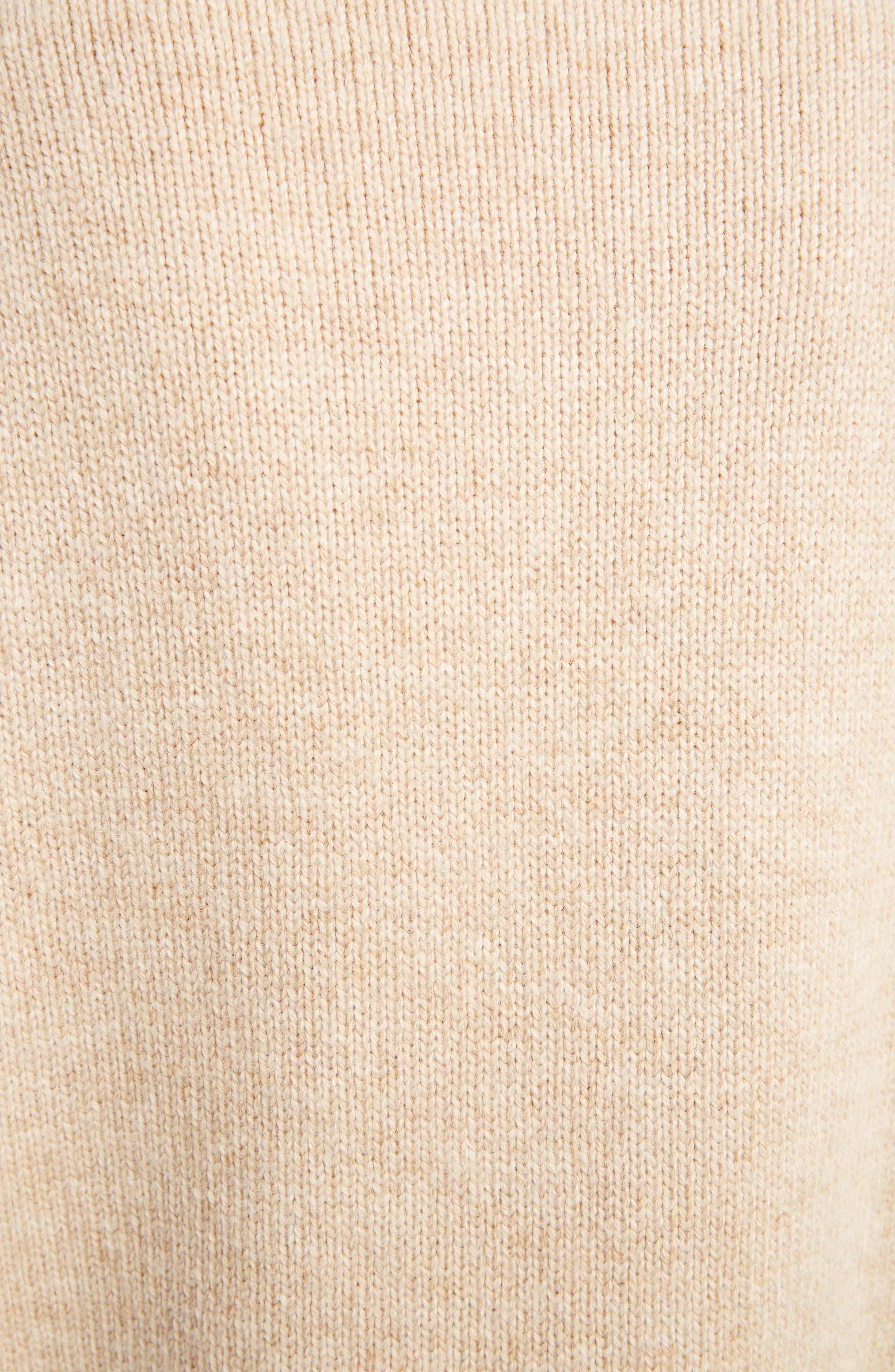 Sleeve Pocket Wool Sweater,                             Alternate thumbnail 5, color,                             Oatmeal