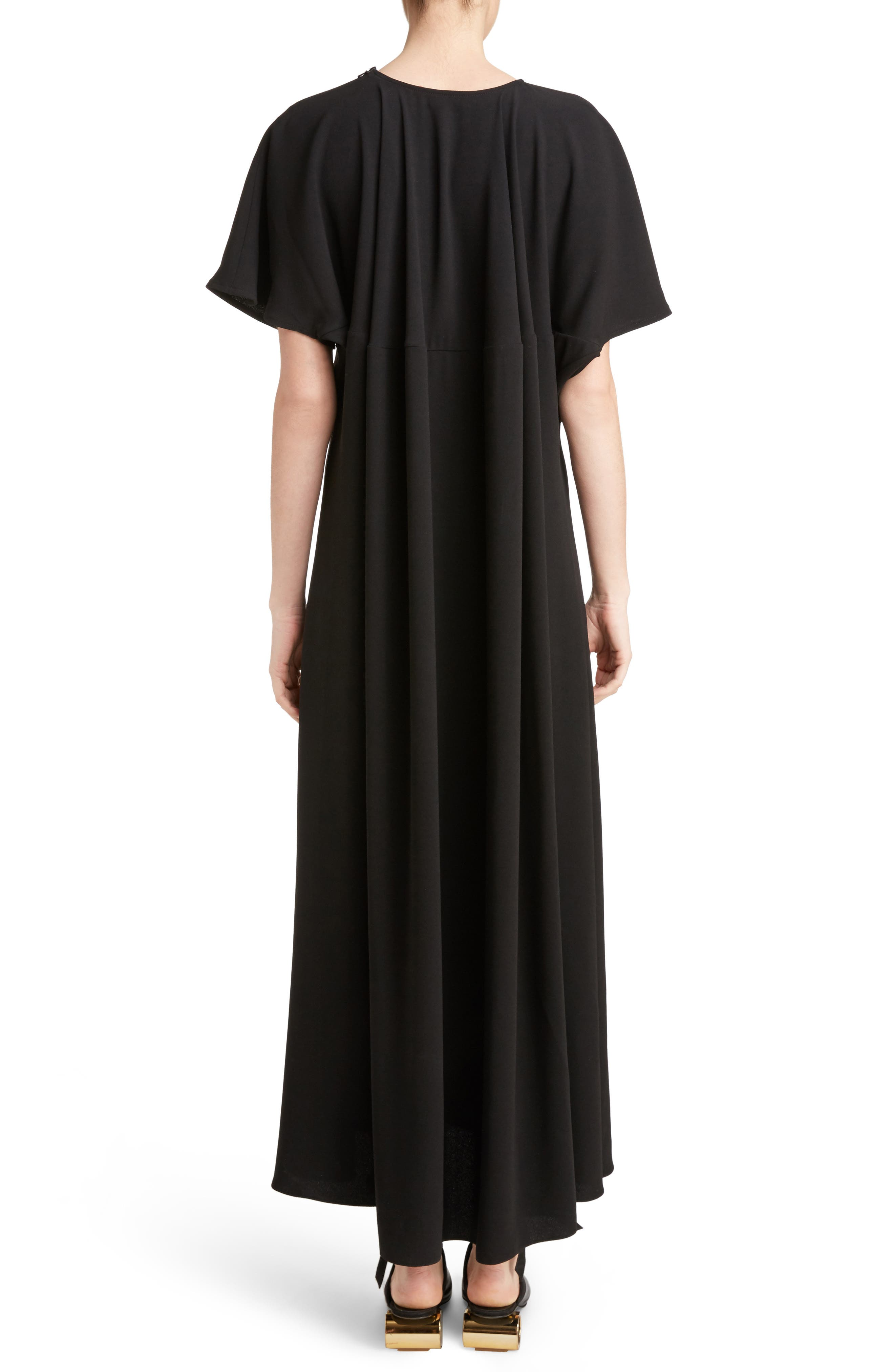 J.W.ANDERSON Cap Sleeve Maxi Dress,                             Alternate thumbnail 2, color,                             Black