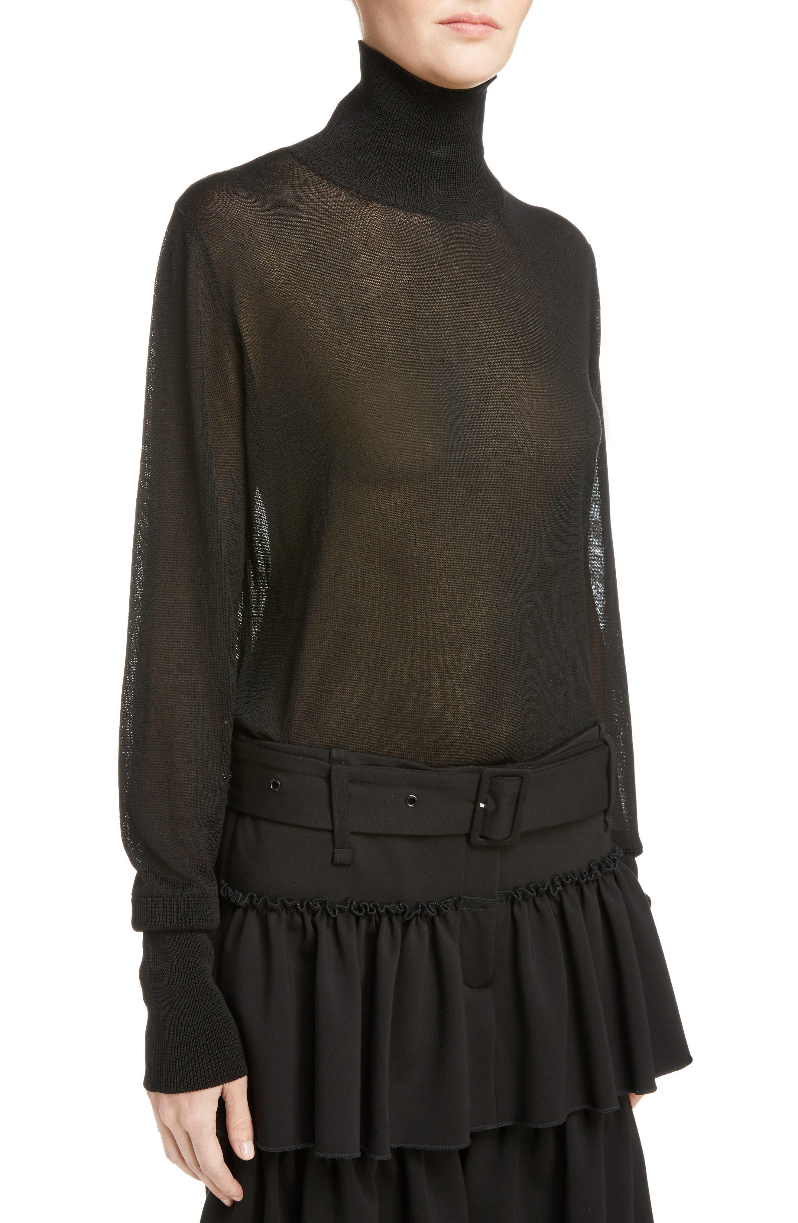 Alternate Image 5  - Simone Rocha Sheer Mock Neck Sweater