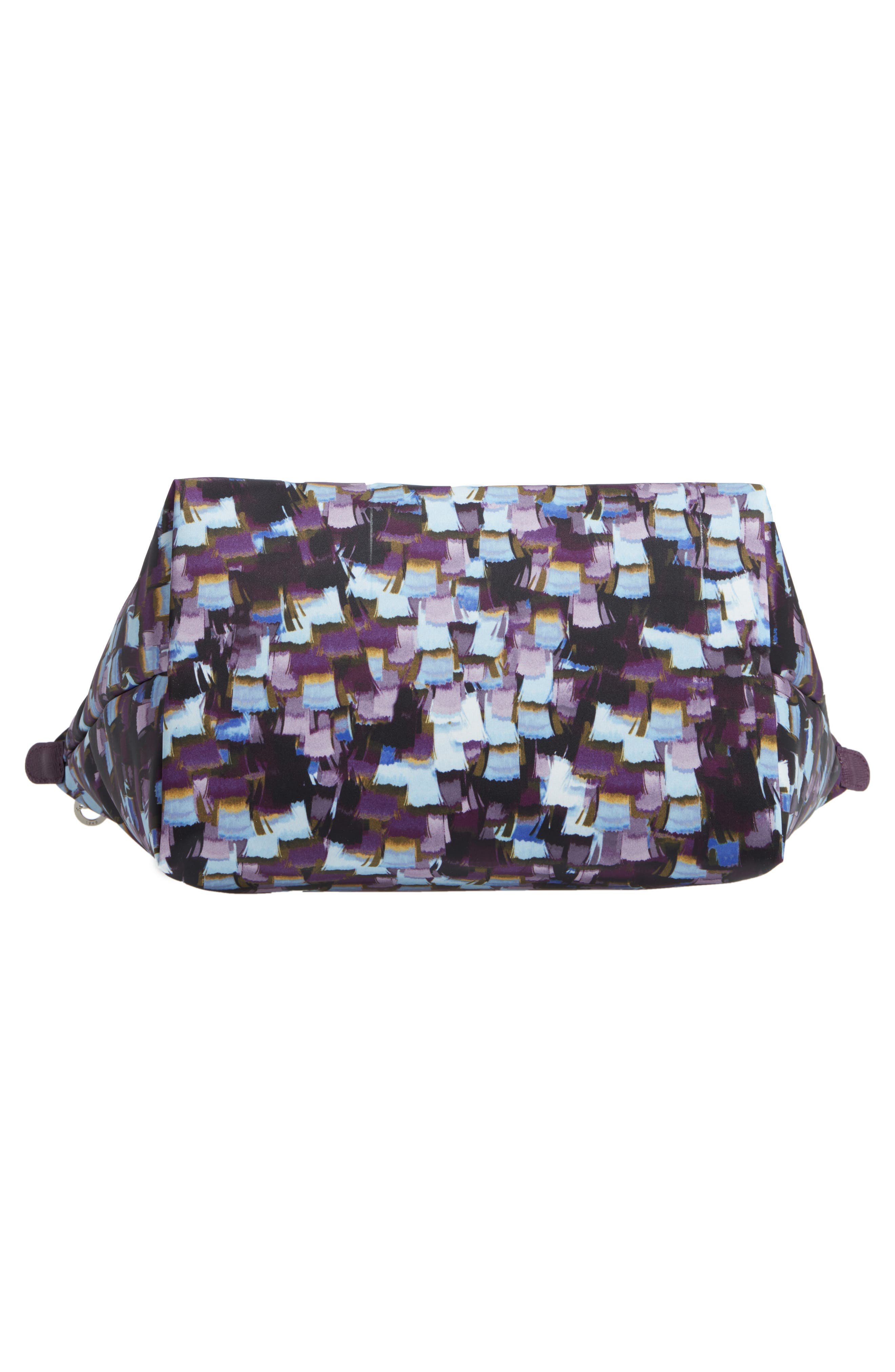 Le Pliage Neo - Vibrations Large Nylon Tote,                             Alternate thumbnail 4, color,                             Deep Purple