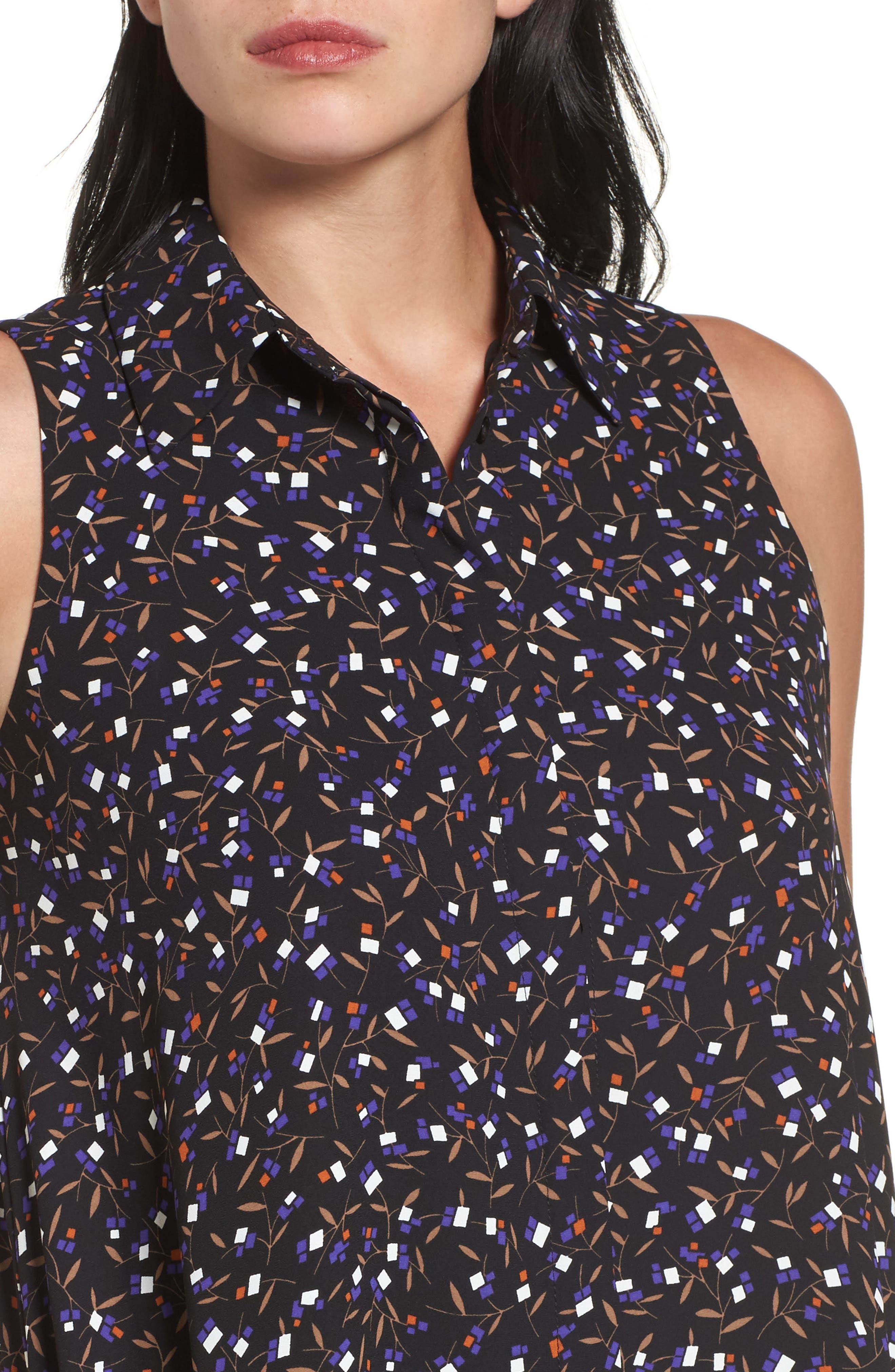 Polo Dress,                             Alternate thumbnail 4, color,                             Black/ Mushroom Combo