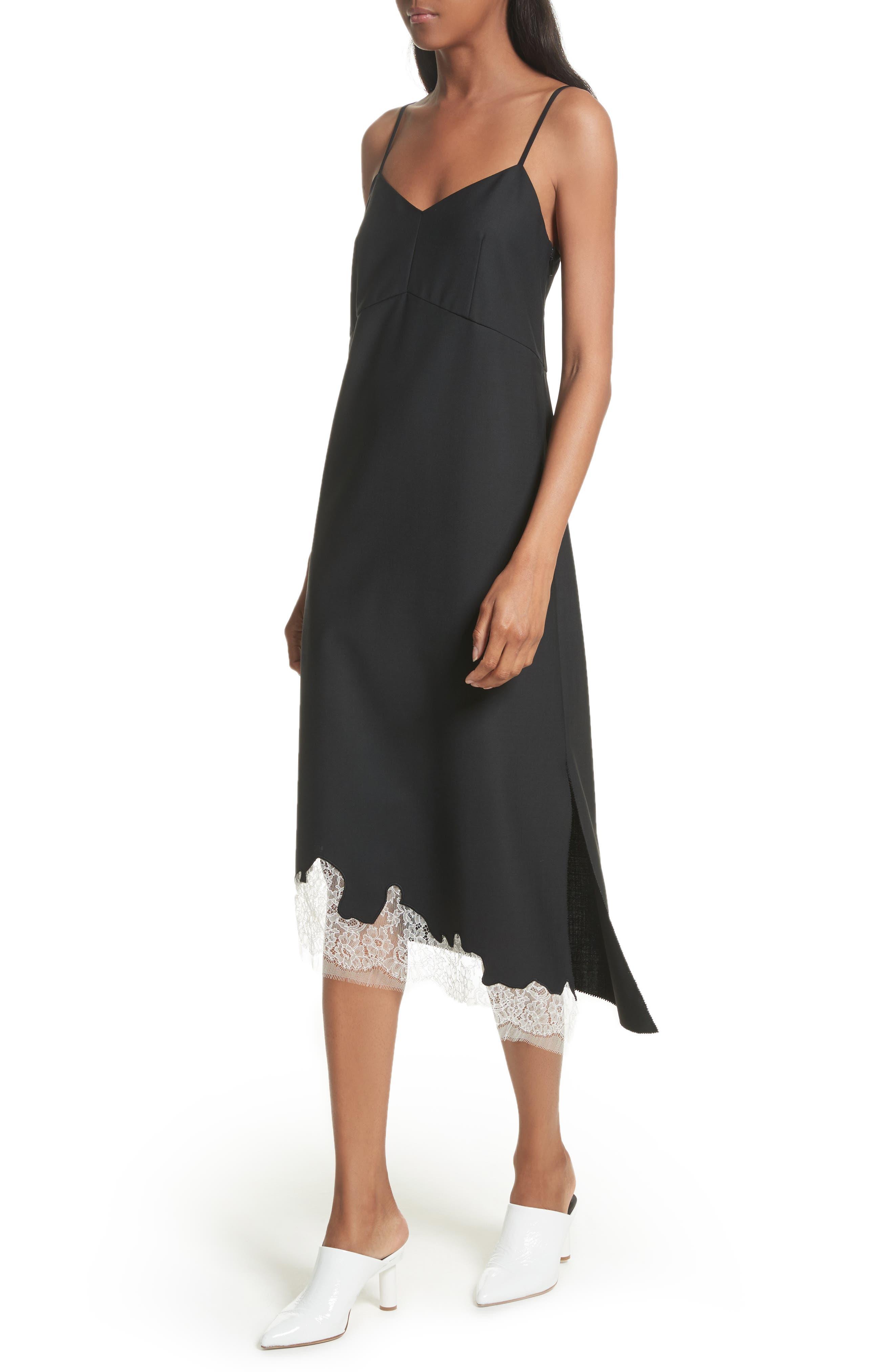 Lou Lou Appliqué Dress,                             Alternate thumbnail 4, color,                             Black