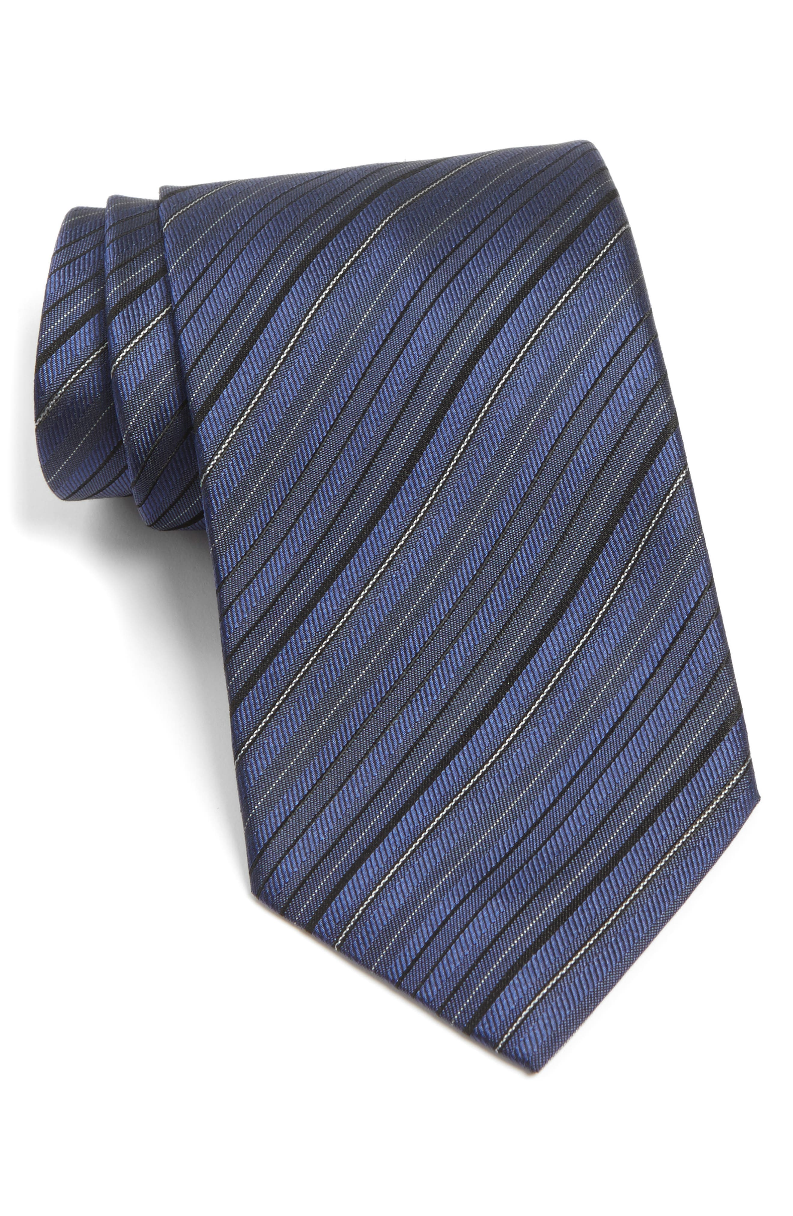 Main Image - John Varvatos Star USA Stripe Silk Tie