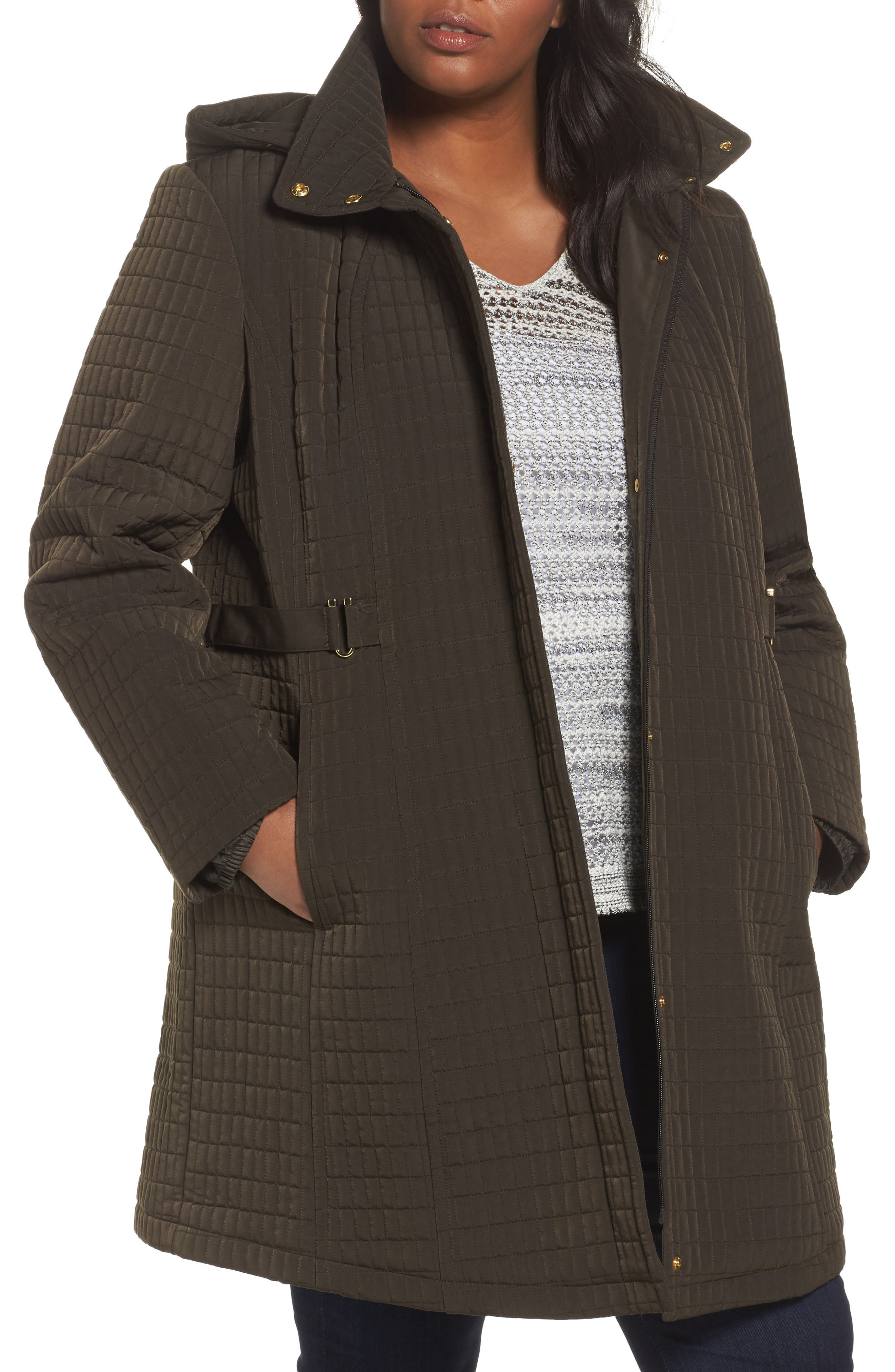 Gallery Quilted Jacket (Plus Size)