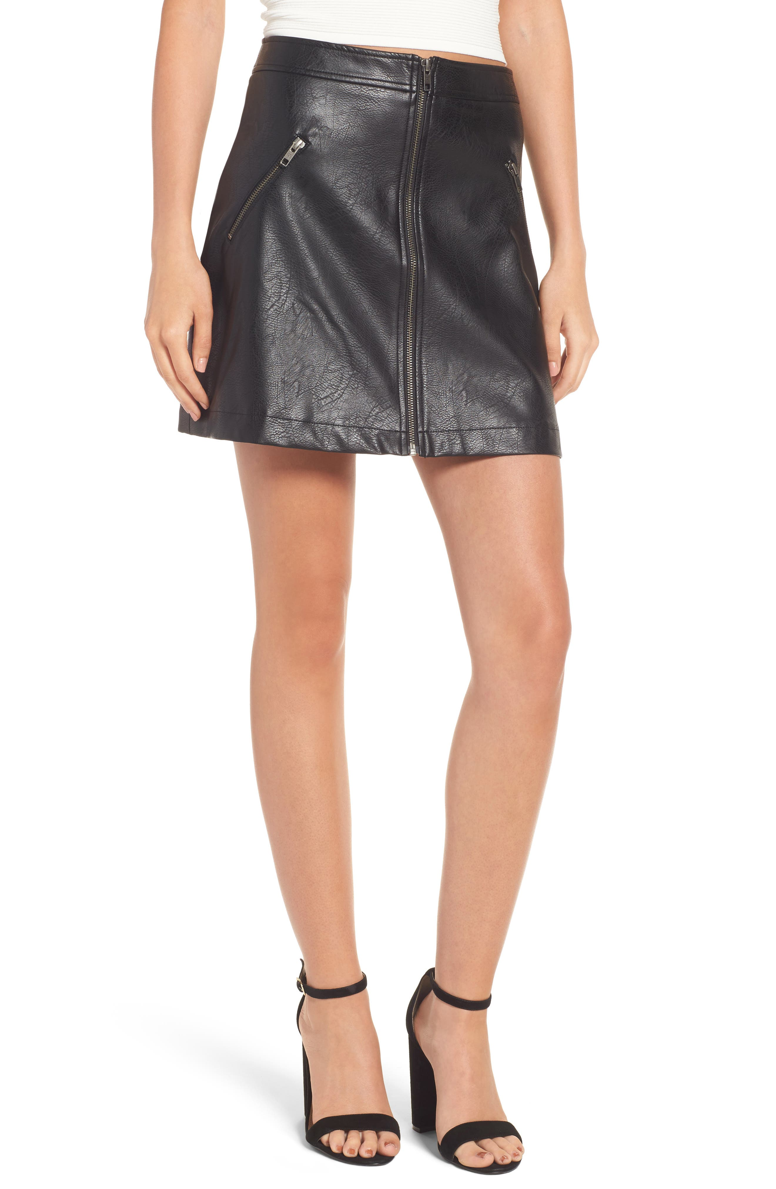 BP. Faux Leather Miniskirt